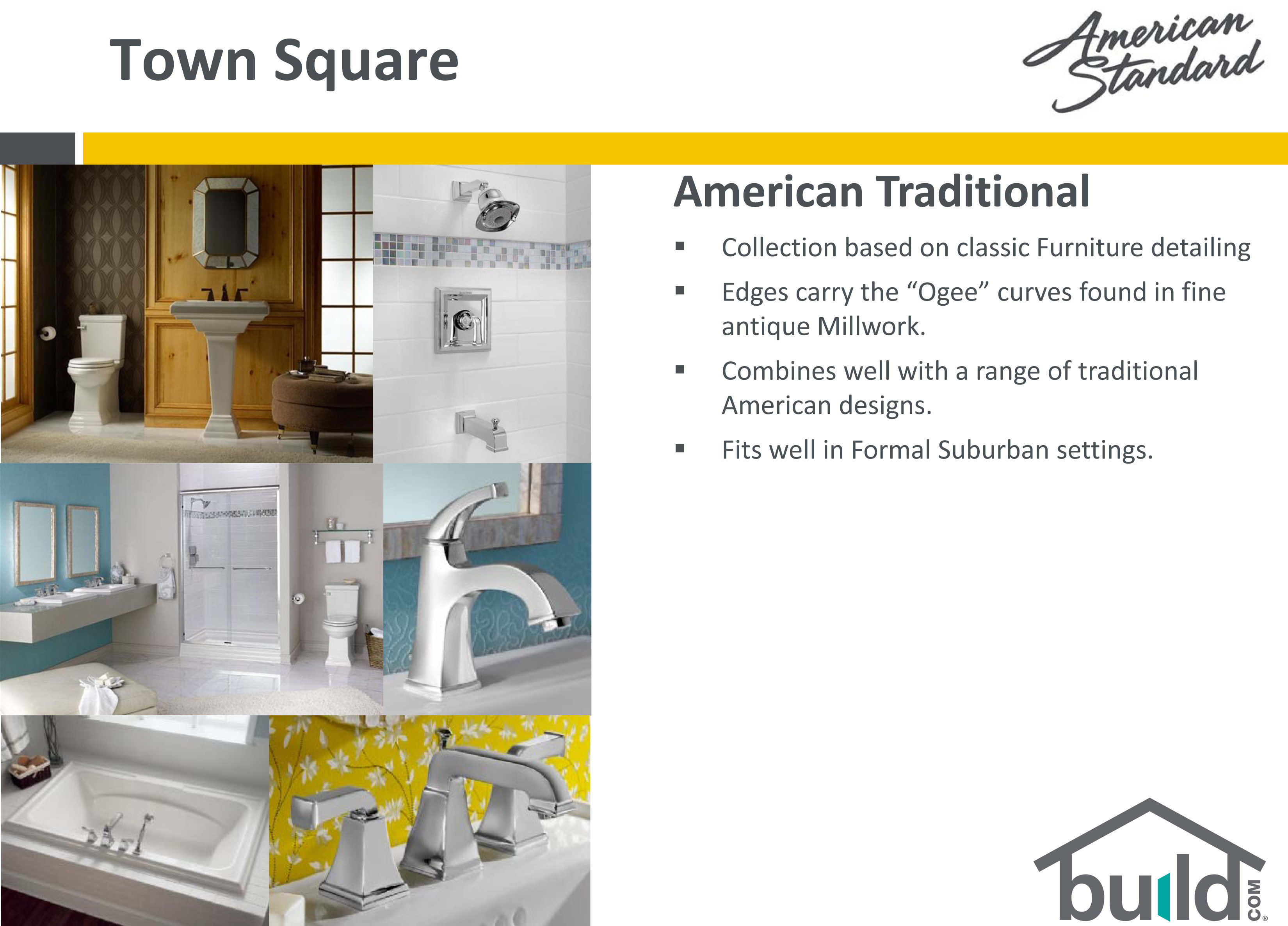 American Standard 0780.800.020 White Town Square Pedestal Bathroom ...