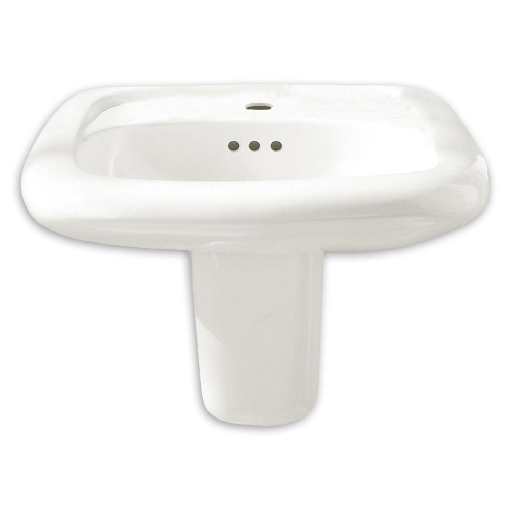 Standard bathroom sink - American Standard 0954 904ec 020 White Murro 21 1 4 Wall Mounted Porcelain Bathroom Sink With Everclean Technology Faucet Com