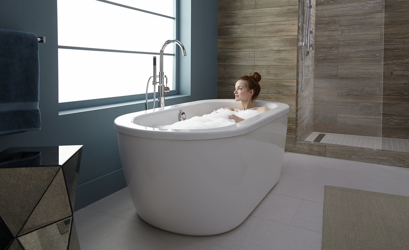 American Standard 2764.014.011 Arctic White with Chrome Drain Cadet ...