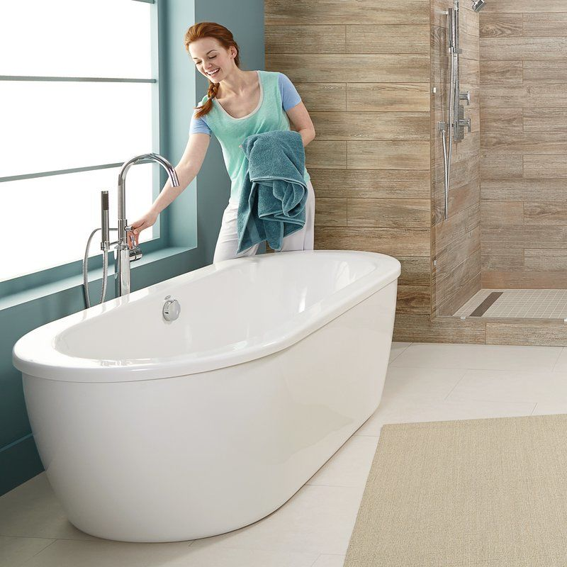 American Standard 2764.014M204.011 Arctic White with Satin Nickel ...