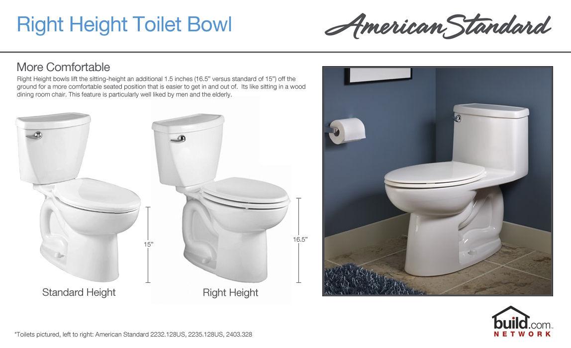 American Standard 3705.216.021 Bone H2Option Elongated Toilet Bowl ...