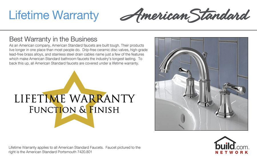 American Standard 7430.801.002 Polished Chrome Berwick Widespread ...