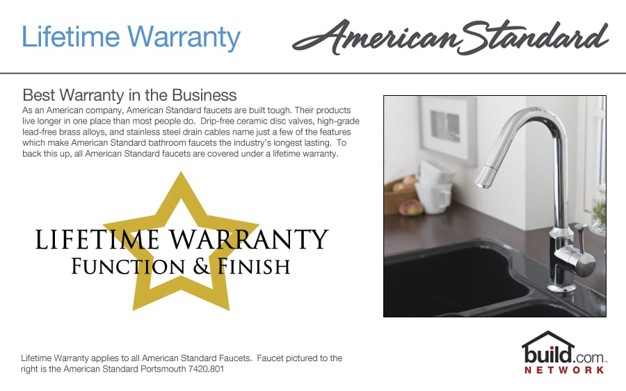 American Standard 8411f Polished Chrome Cadet Kitchen Faucet With Side Spray
