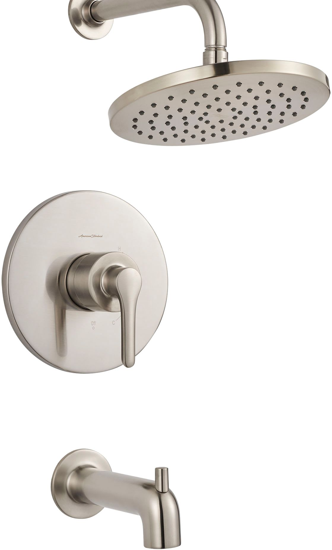American Standard T105502.002 Chrome Studio S Shower Trim Kit With Valve  Trim, Shower Head, And Tub Spout   Faucet.com