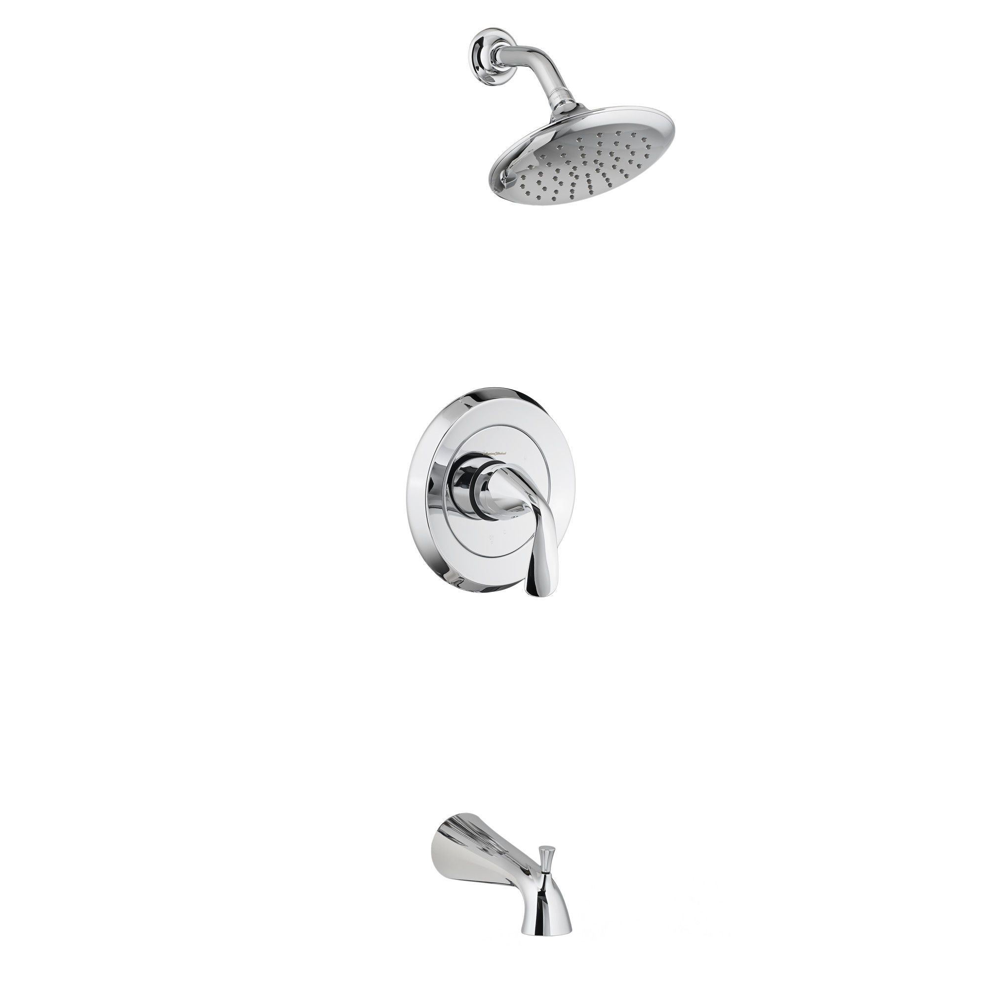 American Standard T186502.002 Polished Chrome Fluent Tub and Shower ...