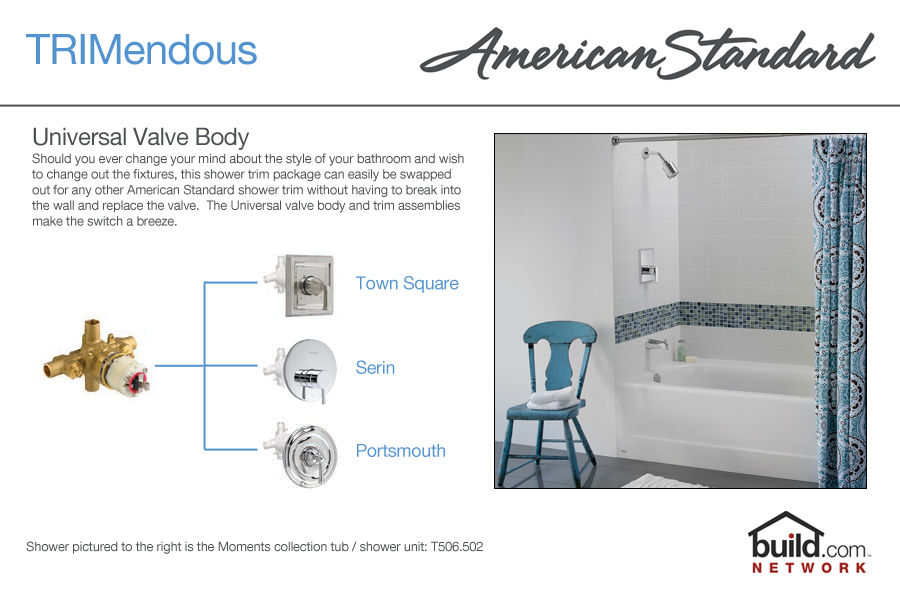 American Standard T212710002 Chrome Hampton Shower Trim Package
