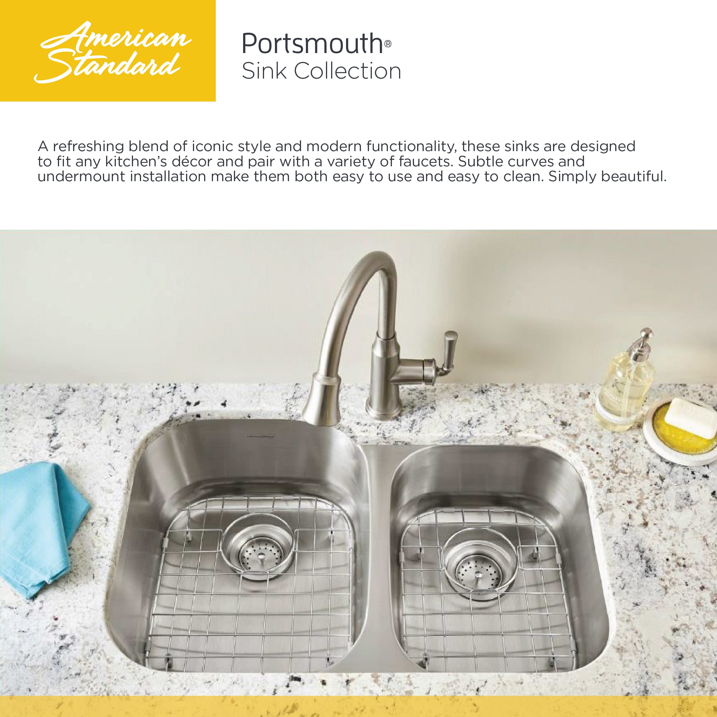 American Standard 18SB.9181600S.075 Stainless Steel Portsmouth 17-13 ...