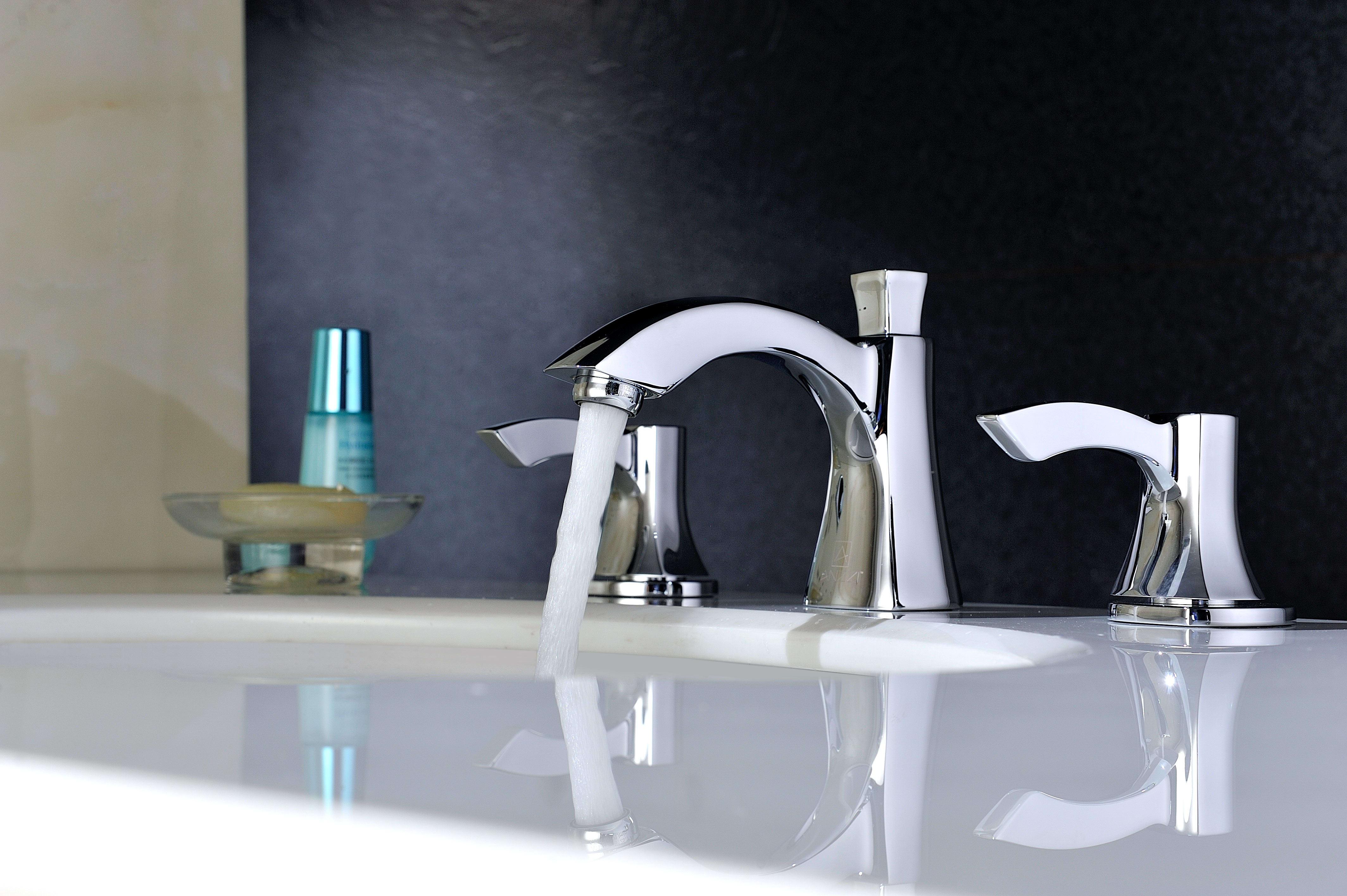Anzzi L-AZ015 Polished Chrome Sonata Widespread 1.2 GPM Bathroom ...