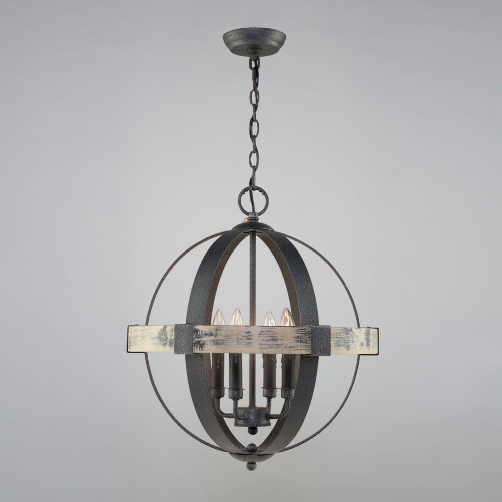 Artcraft Lighting Ac10015 Aspen Wood Black Castello 20 Wide 4 Light Mini Chandelier Lightingshowplace Com