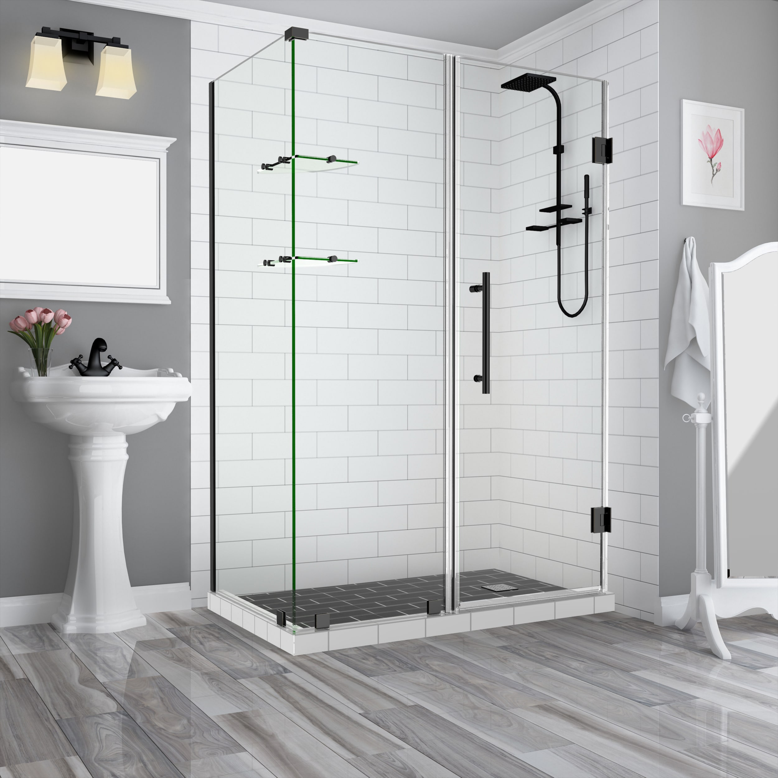 Aston Sen962ez Orb 602630 10 Oil Rubbed Bronze Bromley Gs 72 High X 60 Wide X 30 Deep Hinged Frameless Shower Enclosure With 26 Door Width And Clear Glass Faucet Com