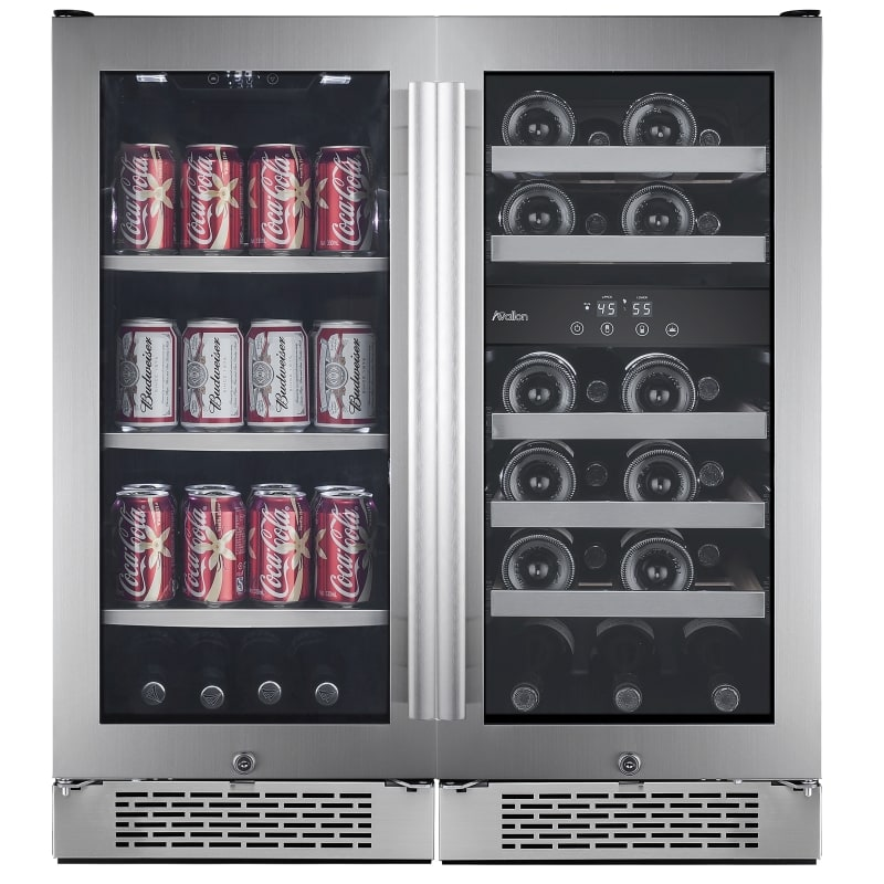 builtin 30 inch wide 23 bottle 86 can capacity energy efficient beverage center set
