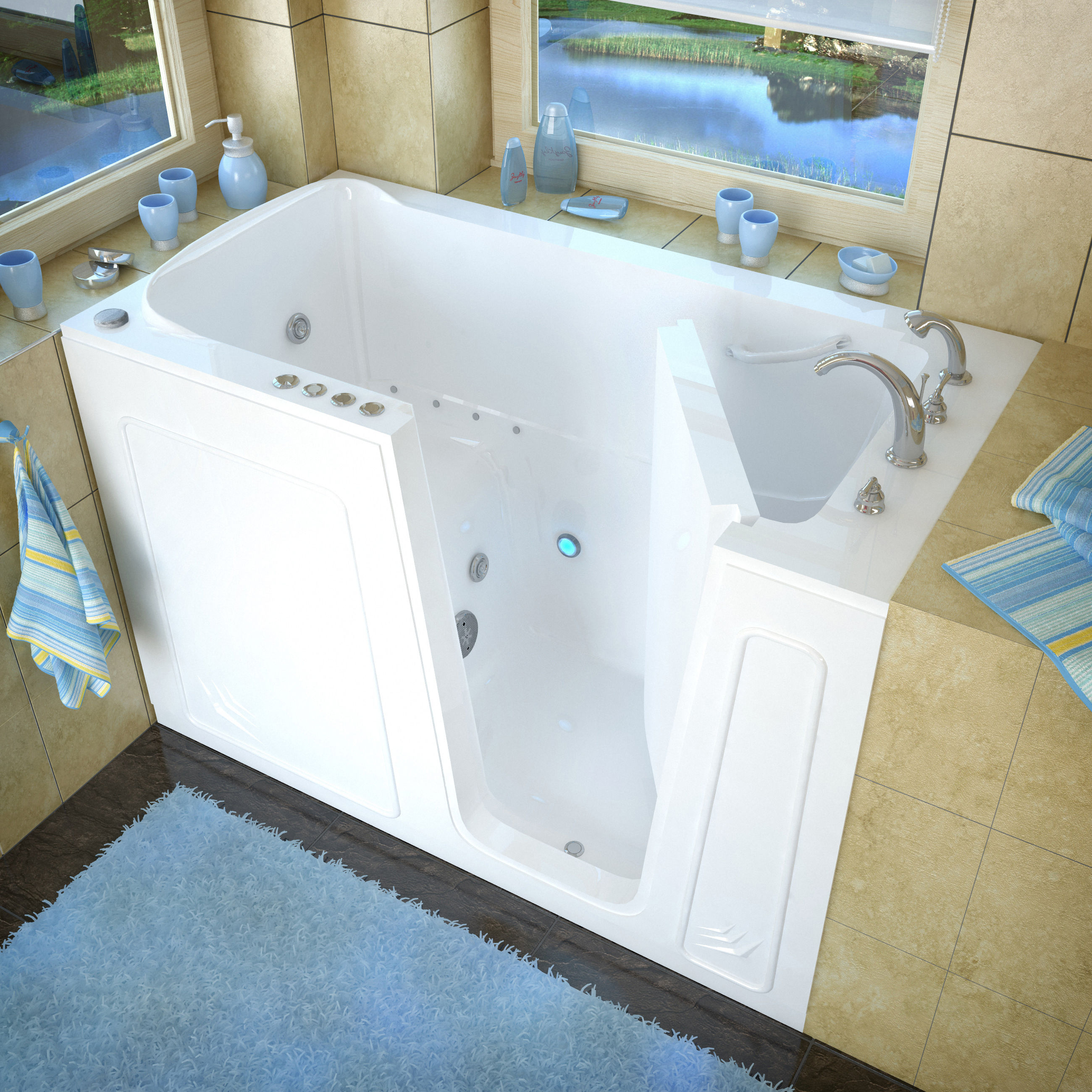 Avano AV3260RWD White Walk-In Tubs 60\