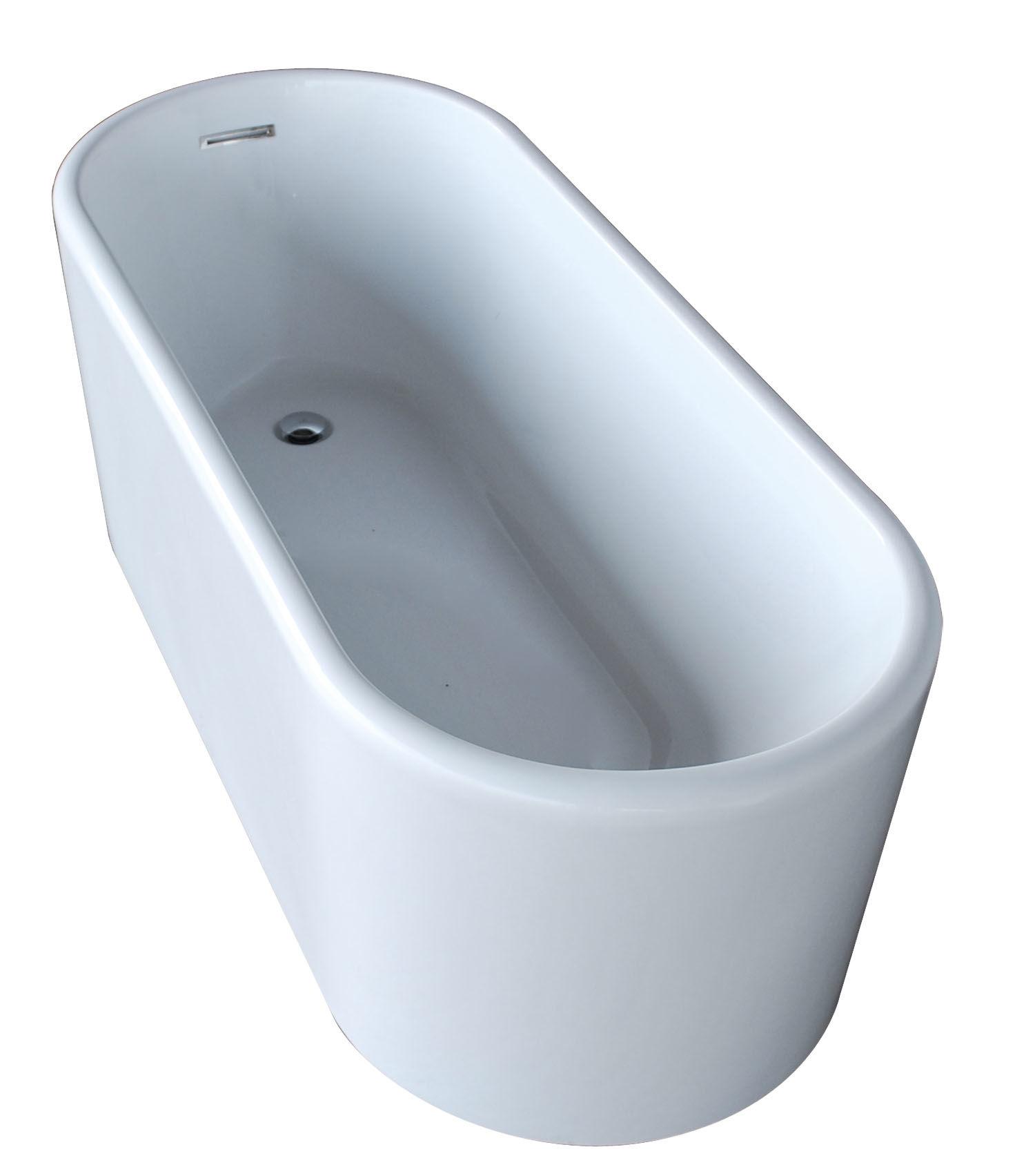 Avano AV6728ENSXCWXX White Freestanding Bathtubs 66-7/8\