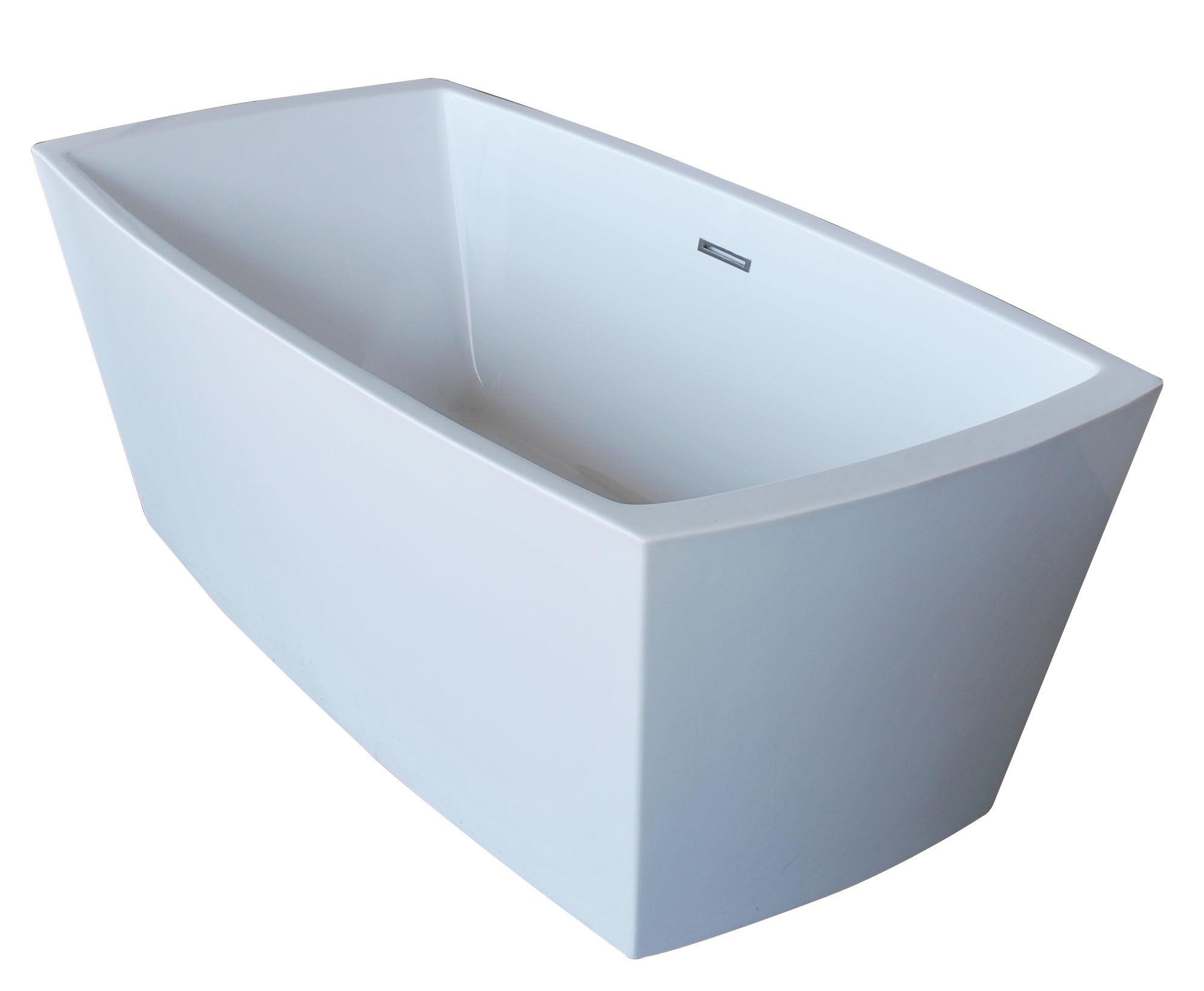 Avano Av6731atsxcwxx White Freestanding Bathtubs 67 Acrylic Soaking Bathtub For Freestanding Installations With Reversible Drain Faucetdirect Com