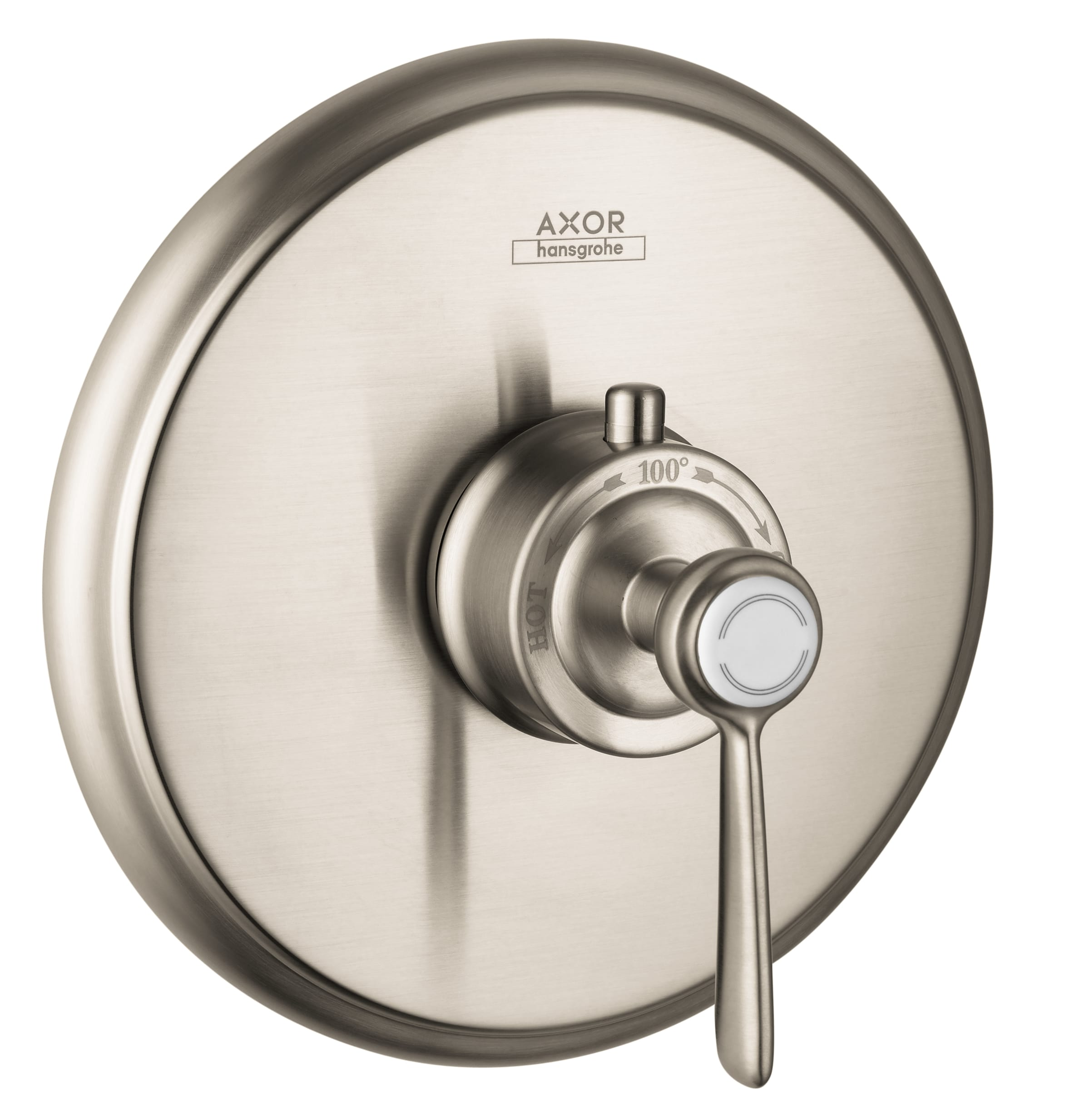 Axor 16824821 Brushed Nickel Montreux Thermostatic Valve Trim Less ...