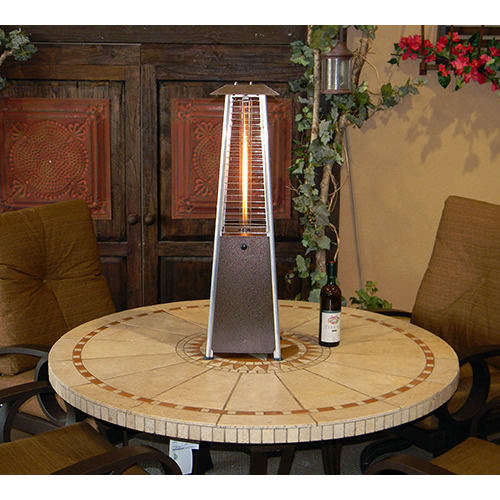 AZ Patio Heaters Stainless Steel Glass Tube Portable Patio Heater    HLDS032 GTTSS