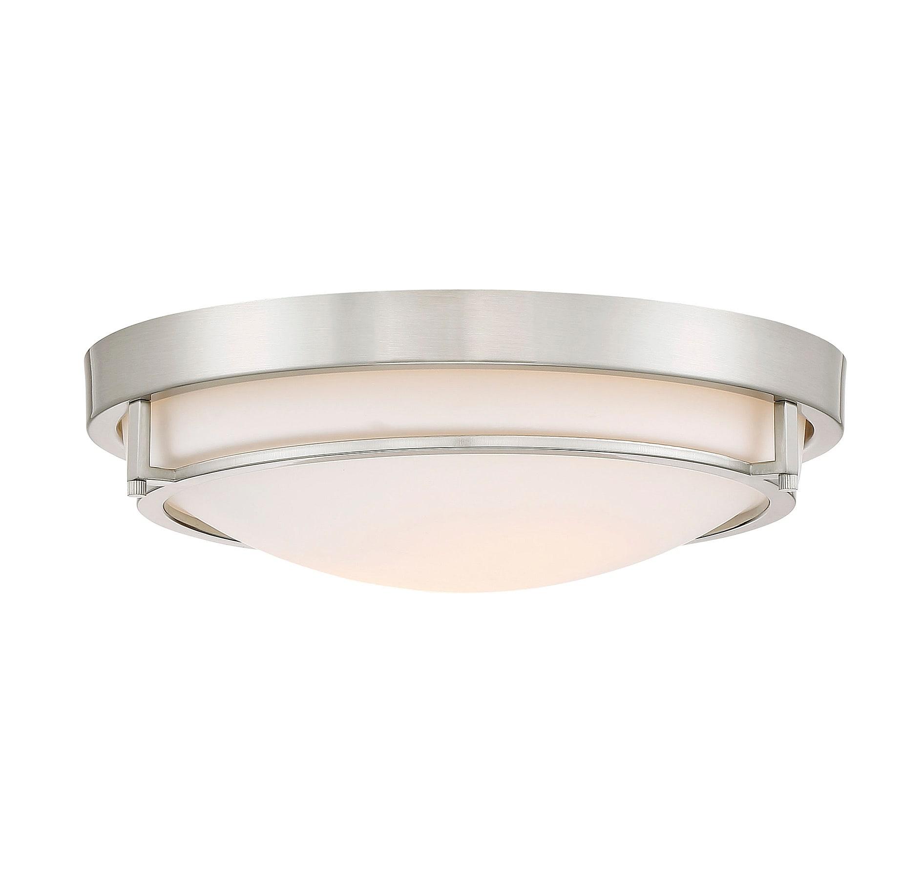 Bellevue Sh60019bn Brushed Nickel 2 Light 13 Wide Flush Mount Bowl Ceiling Fixture Lightingdirect Com