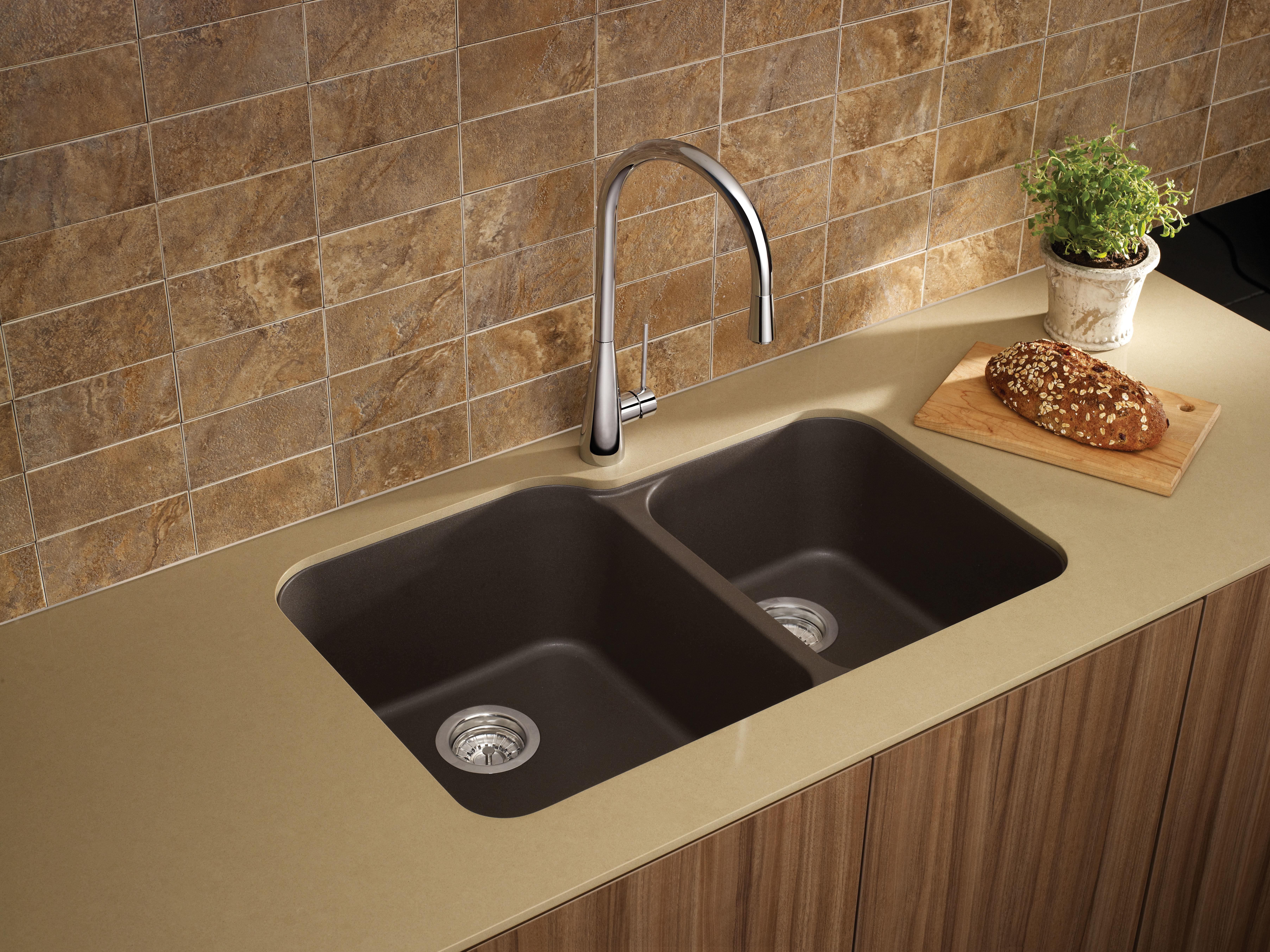 Blanco 446008 Anthracite Meridian Double Basin Undermount Silgranit Kitchen  Sink   Faucet.com