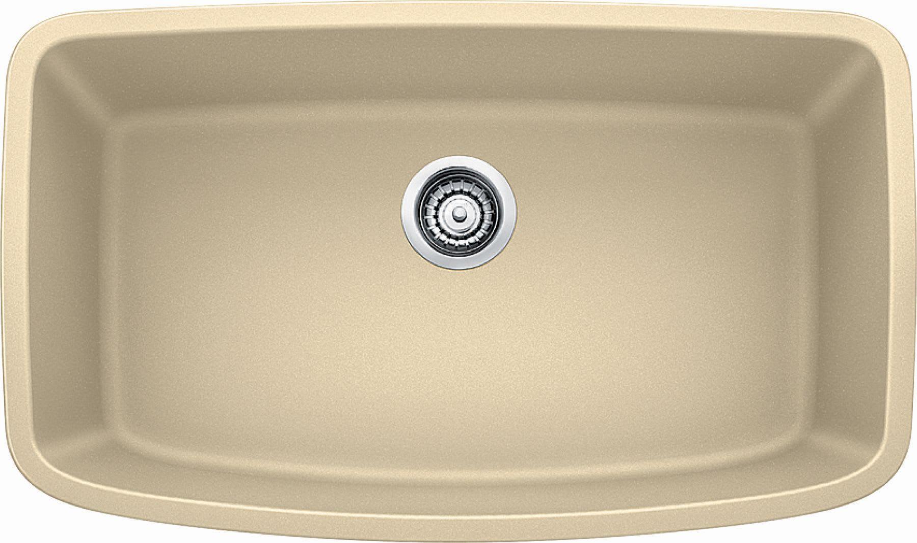 """Blanco 441612 Biscotti Valea 32-1/4"""" Silgranit Granite Composite Undermount Super Single Bowl Kitchen Sink - FaucetDirect.com"""