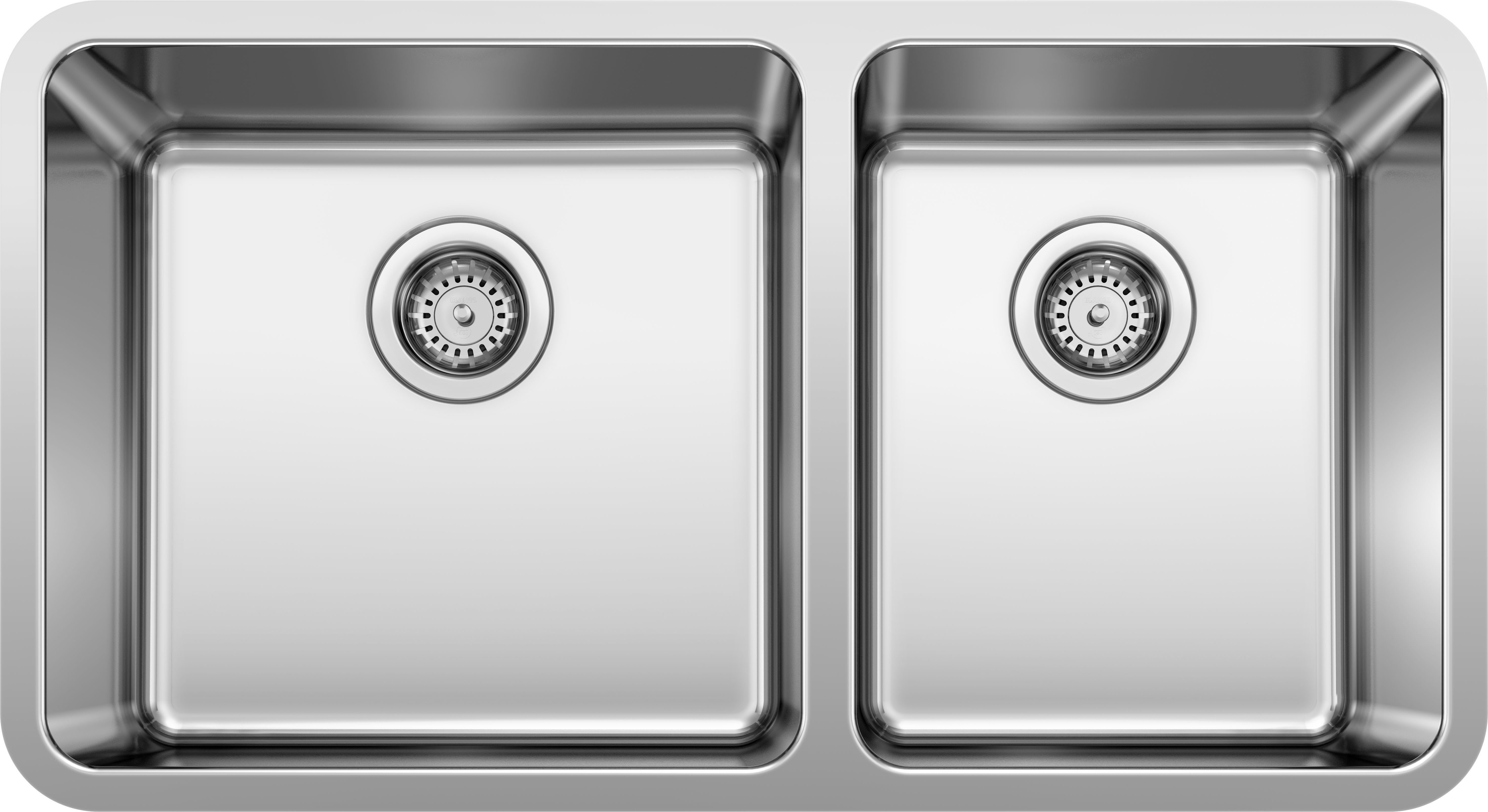 Blanco 442769 Stainless Steel Formera 33 Undermount Double Basin Stainless Steel Kitchen Sink Faucetdirect Com