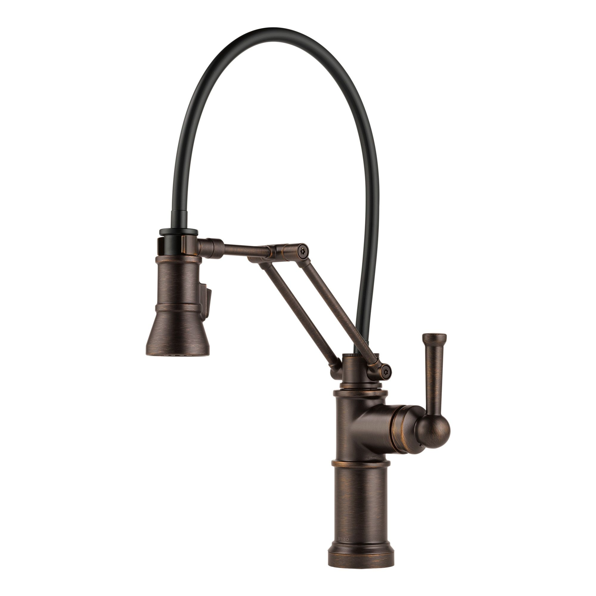 Brizo 63225lf rb venetian bronze artesso pull down kitchen faucet with dual jointed articulating arm and magnetic docking spray head includes lifetime