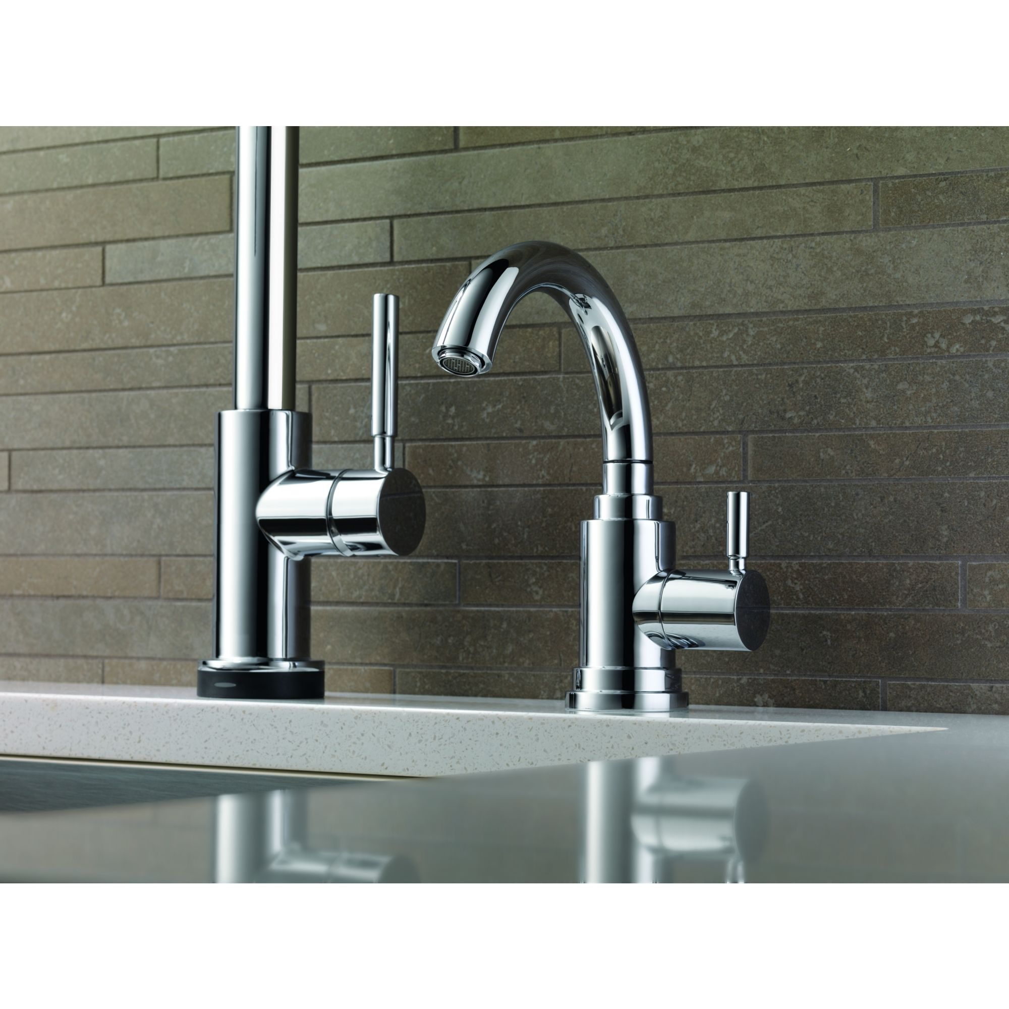 Brizo 61320LF-SS Brilliance Stainless Euro Beverage Faucet Cold Only ...