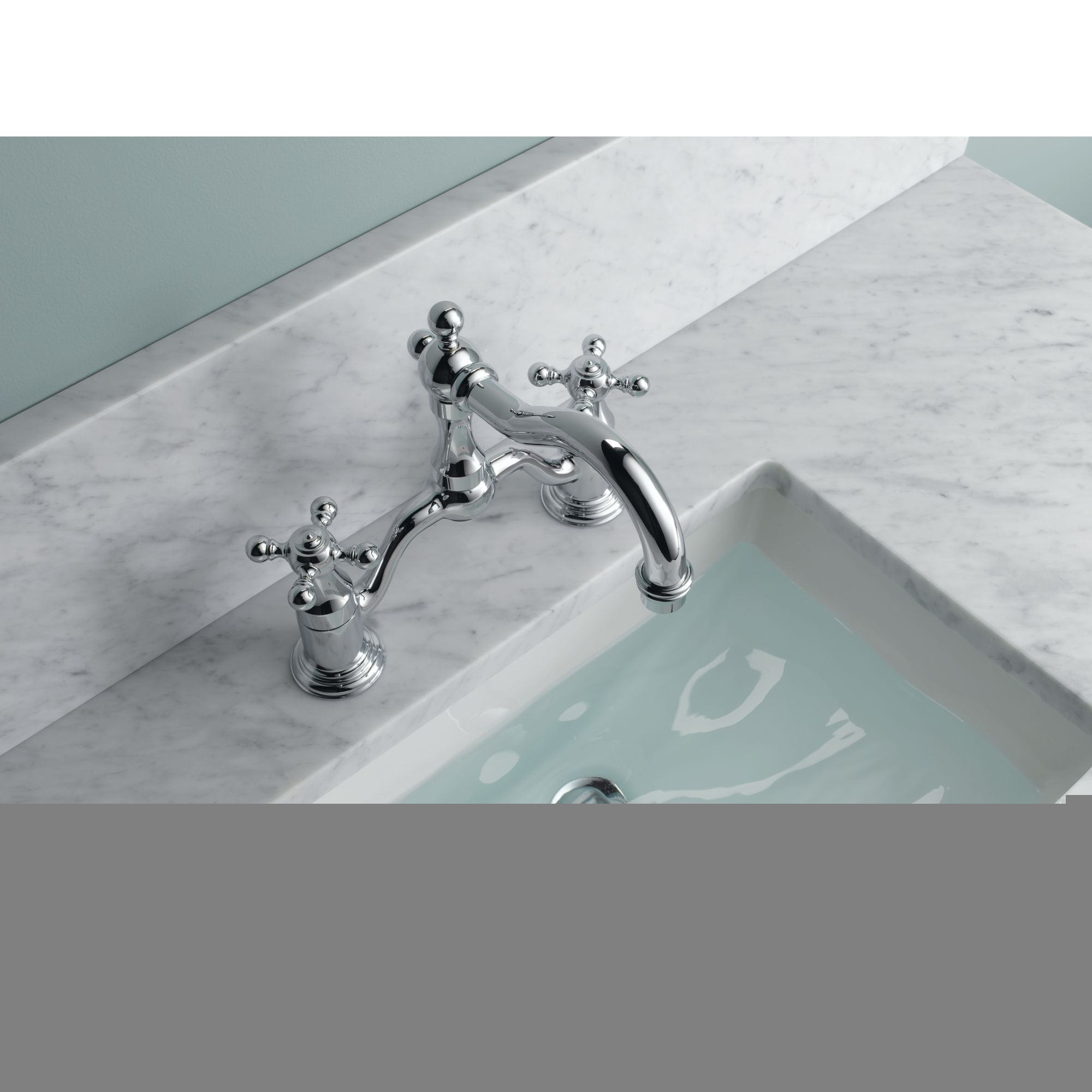 Brizo 65538lf Pc Chrome Tresa Widespread Bridge Bathroom Faucet Includes Lifetime Warranty Less Drain Embly