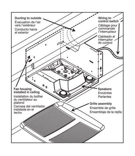 broan exhaust fan fans spk110 110V Outlet Wiring Diagram