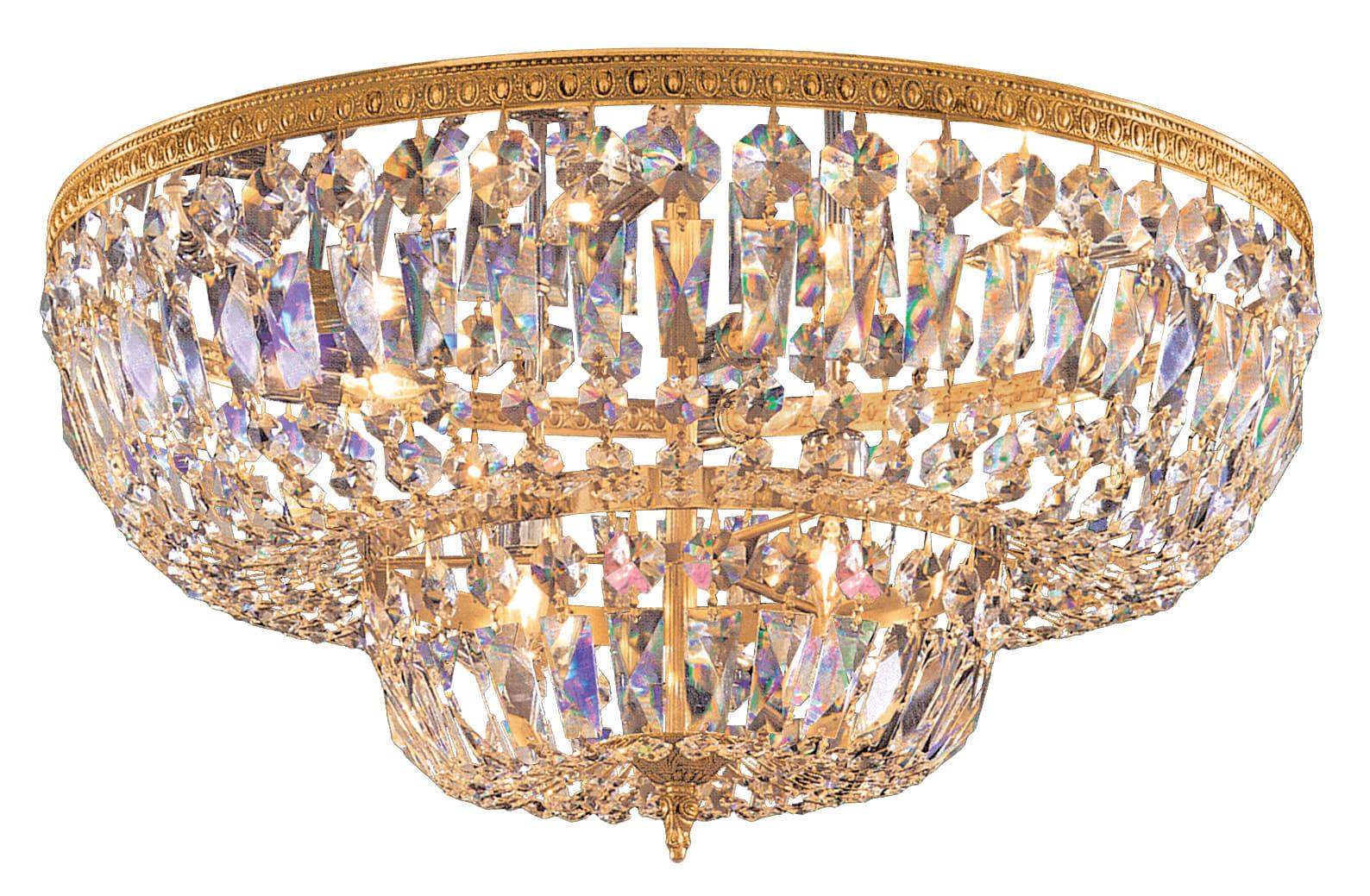Crystorama 2 Light Brass Crystal Ceiling Mount 117-8-OB