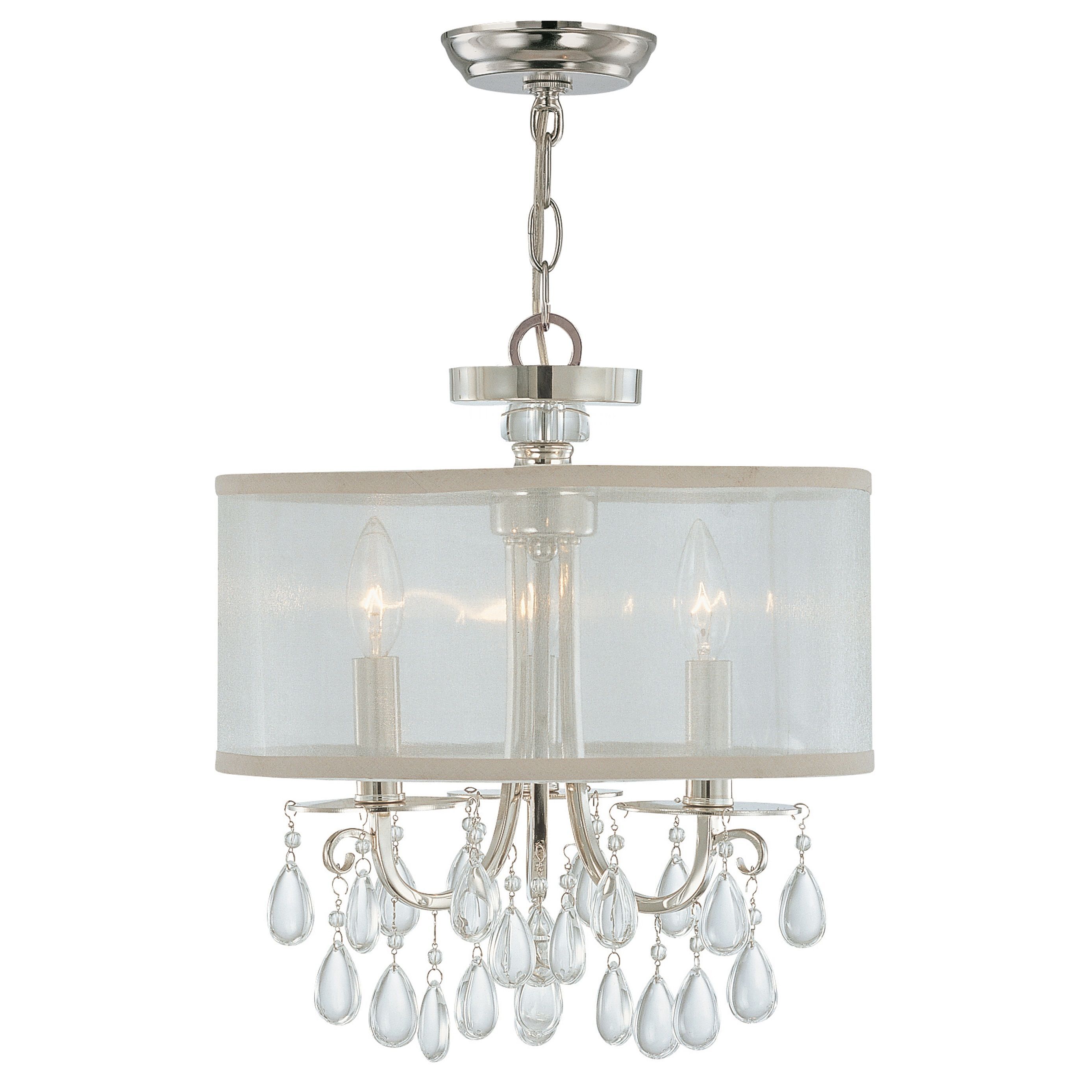 Crystorama lighting group 5623 ch polished chrome hampton 3 light 14 crystorama lighting group 5623 ch polished chrome hampton 3 light 14 wide drum chandelier with etruscan smooth teardrop almond crystals arubaitofo Images