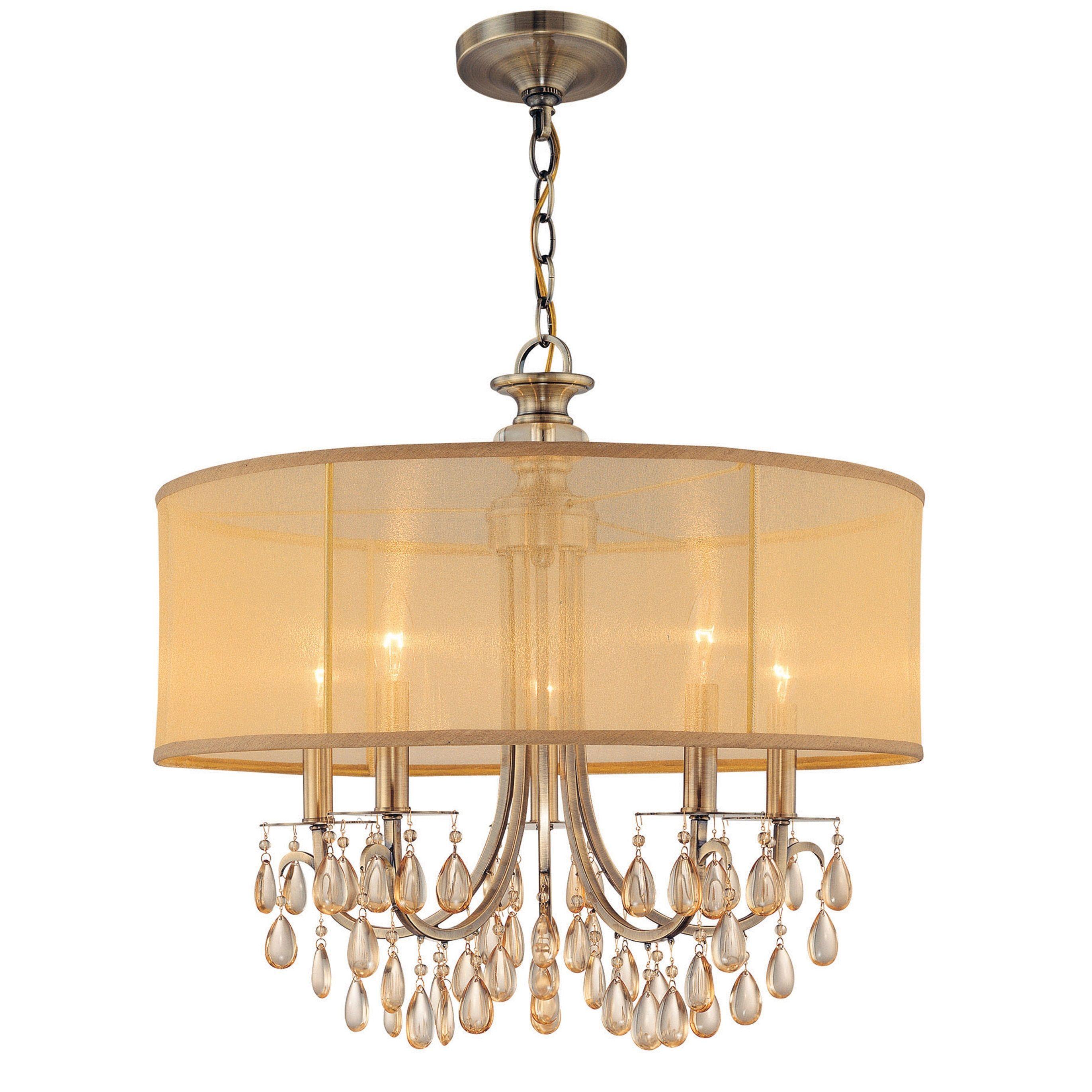 Crystorama Lighting Group 5625 AB Antique Brass Hampton 5 Light 24