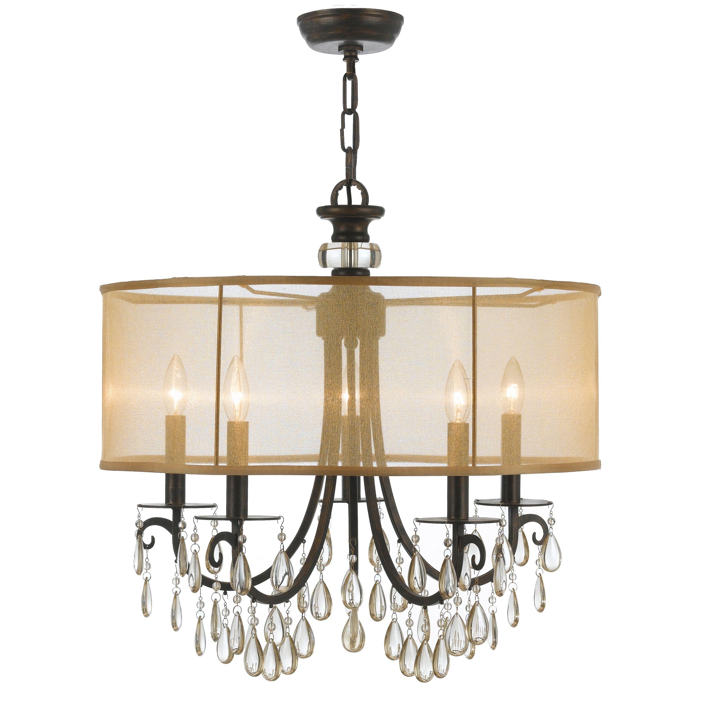 Crystorama Lighting Group 5625 EB English Bronze Hampton 5 Light