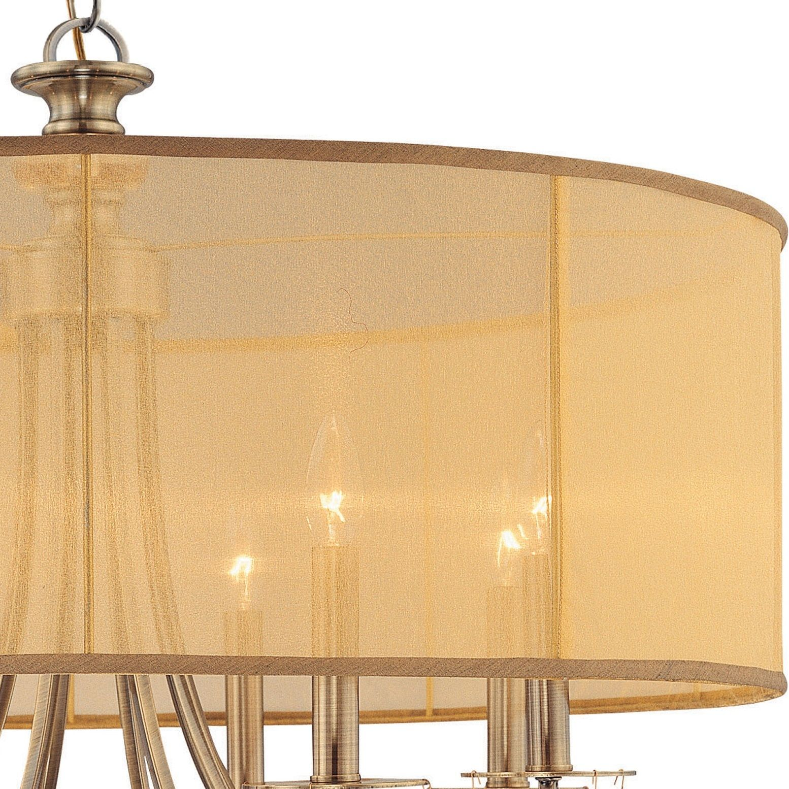 Crystorama Lighting Group 5628 Eb English Bronze Hampton 8 Light 32 Southwestern Table Lamps Lamp Socket Parts Diagram Wide Drum Chandelier With Etruscan Smooth Teardrop Almond Crystals Lightingshowplace