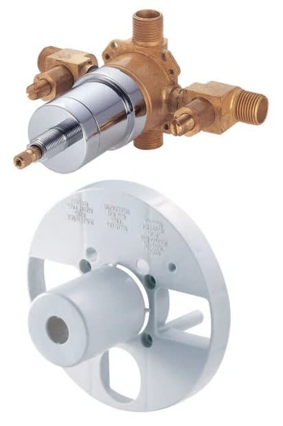 Danze D112010BT Single Control Pressure Balance Mixing Valve with Screwdriver Stops for Pex Inlet
