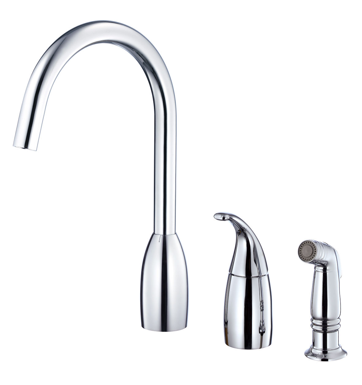 Danze Dh409020 Chrome H C Waterware Sangria High Arc Kitchen Faucet
