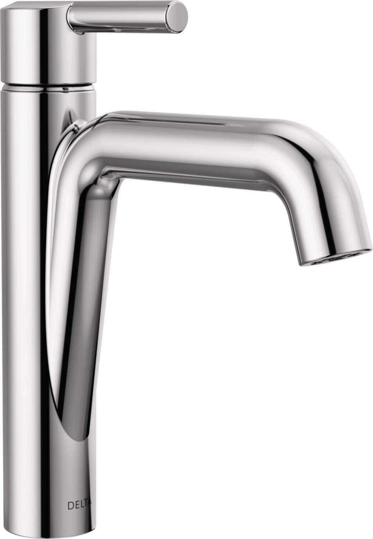 Delta 15849lf Chrome Nicoli 1 2 Gpm Single Hole Bathroom Faucet With Pop Up Drain Assembly Faucet Com