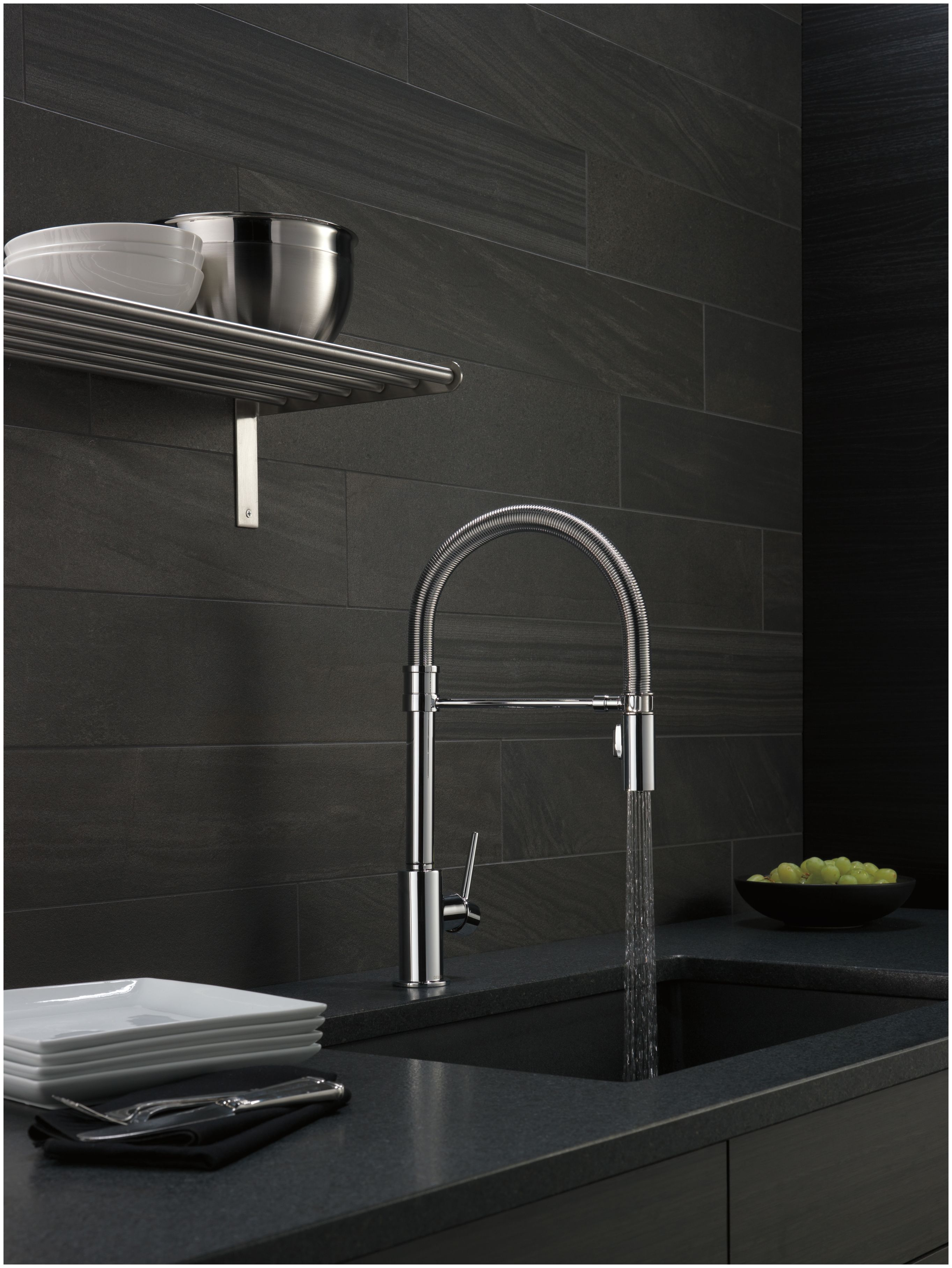 Delta 9659-AR-DST Arctic Stainless Trinsic Pro Pre-Rinse Pull-Down ...