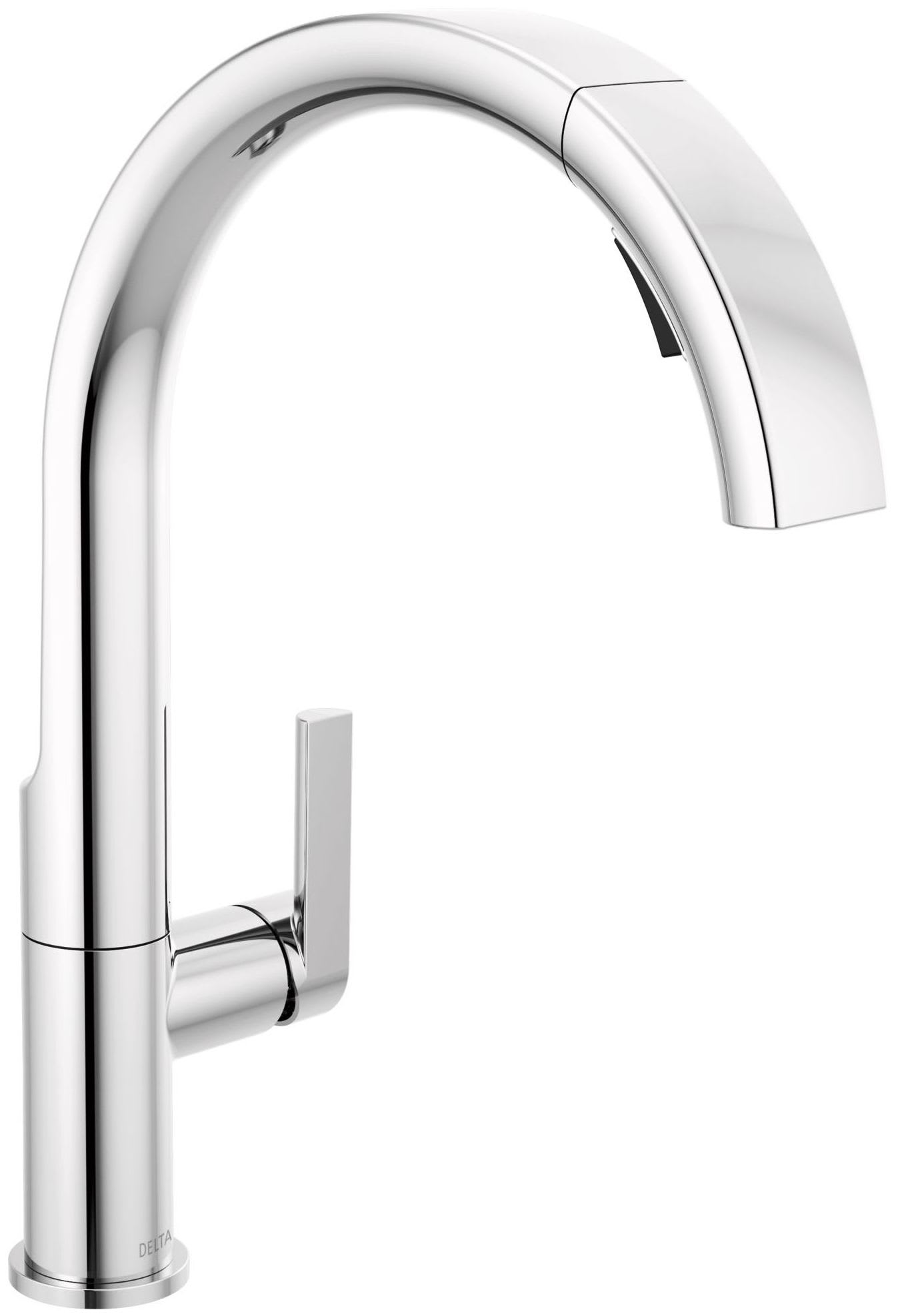 Delta 19824lf Chrome Keele 1 8 Gpm Single Hole Pull Down Kitchen Faucet Magnatite And Touch Clean Technology Faucet Com