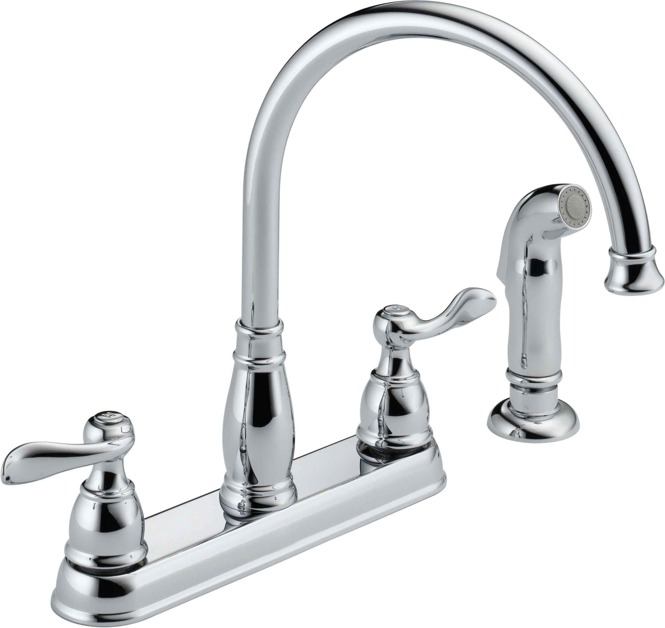 Delta 21996LF-SS Brilliance Stainless Windemere Kitchen Faucet with ...