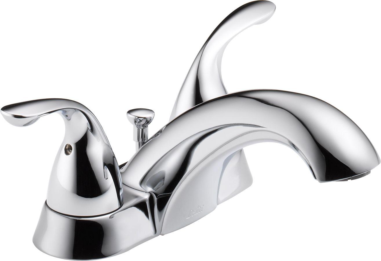 Delta 2523LF-MPU Chrome Classic Centerset Bathroom Faucet with Pop ...