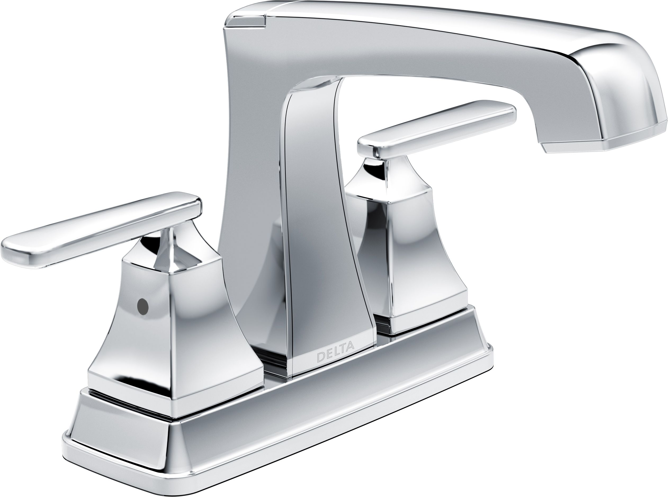 Delta TPDST Chrome Ashlyn Centerset Bathroom Faucet With Pop - Delta bathroom vanity faucets