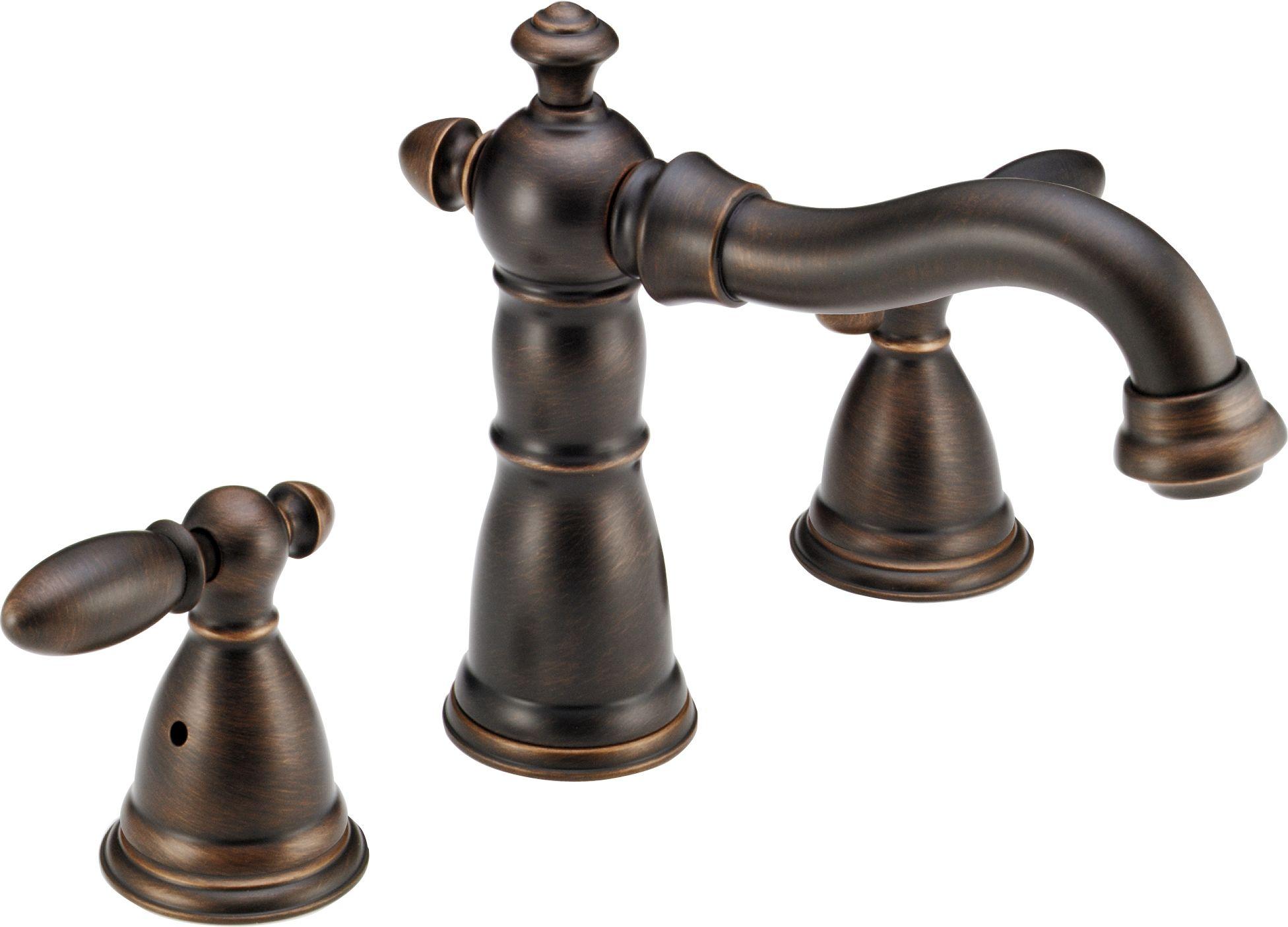 ea68f064ddd Delta venetian bronze victorian double handle roman tub trim with lever  handles rough in valve included