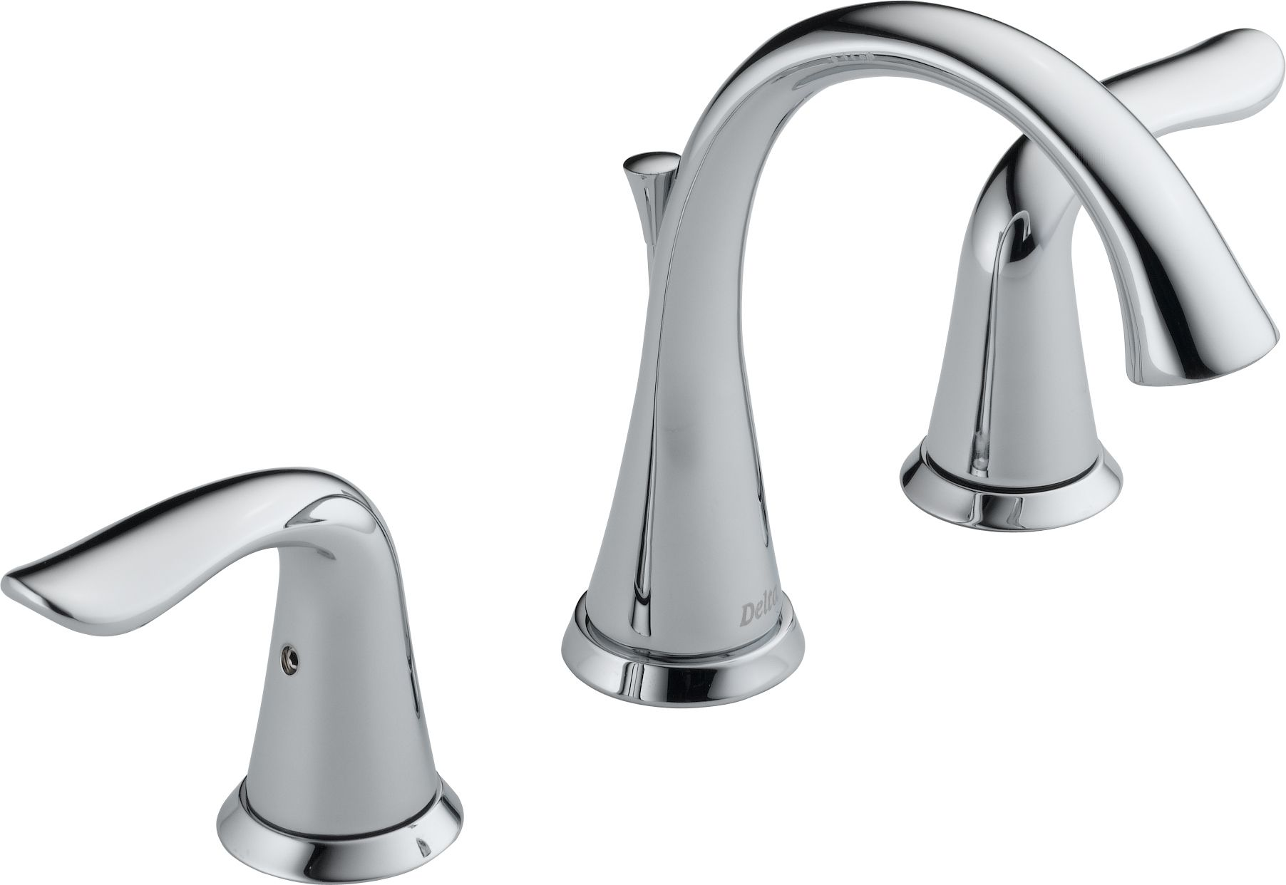 Delta 3538 Mpu Dst Chrome Lahara Widespread Bathroom Faucet With Pop