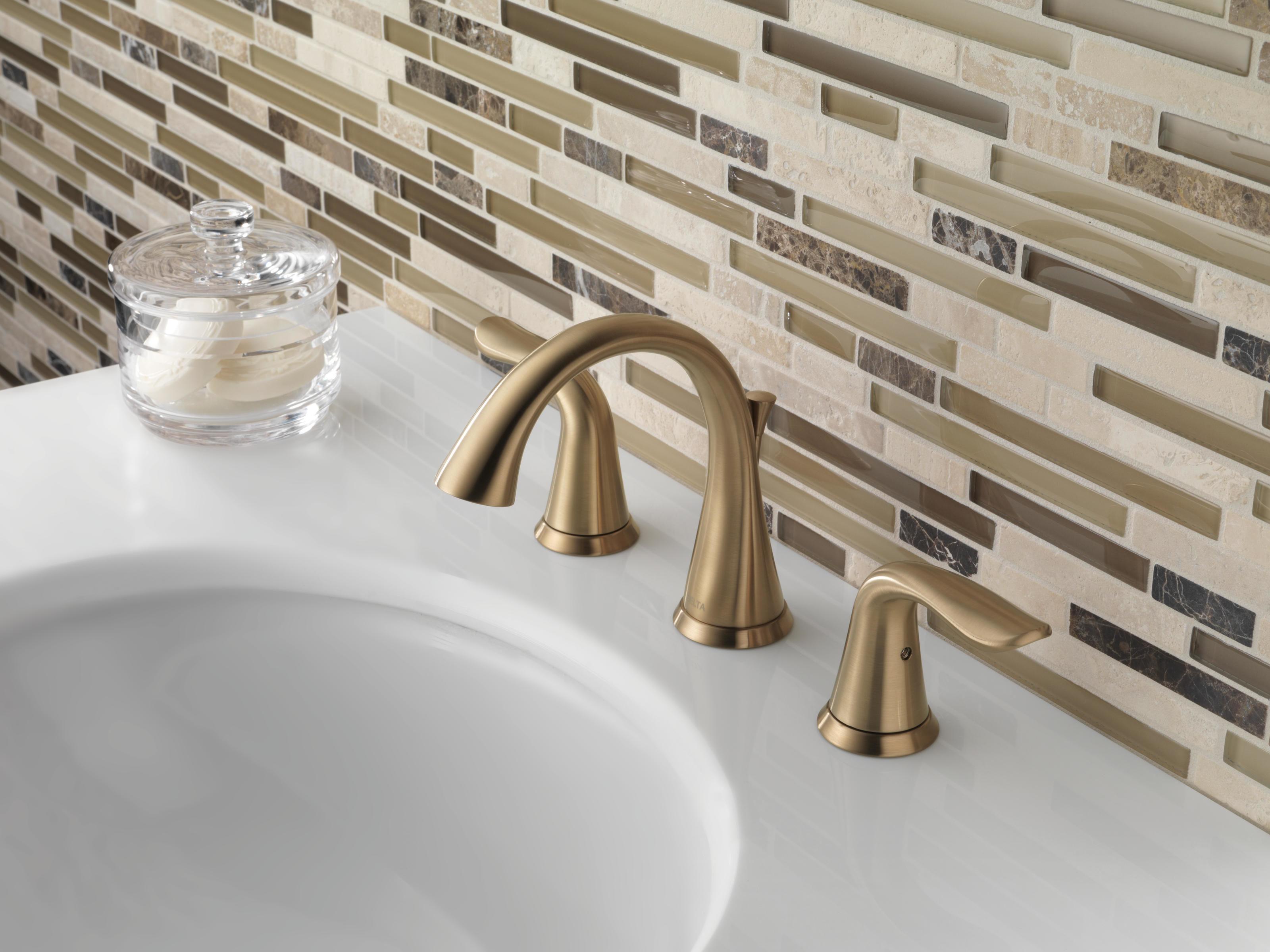 Champagne Bronze Bathroom Faucet. Delta 3538 Czmpu Dst Champagne Bronze Lahara Widespread Bathroom Faucet With Pop Up Drain Assembly Includes Lifetime Warranty Faucet Com