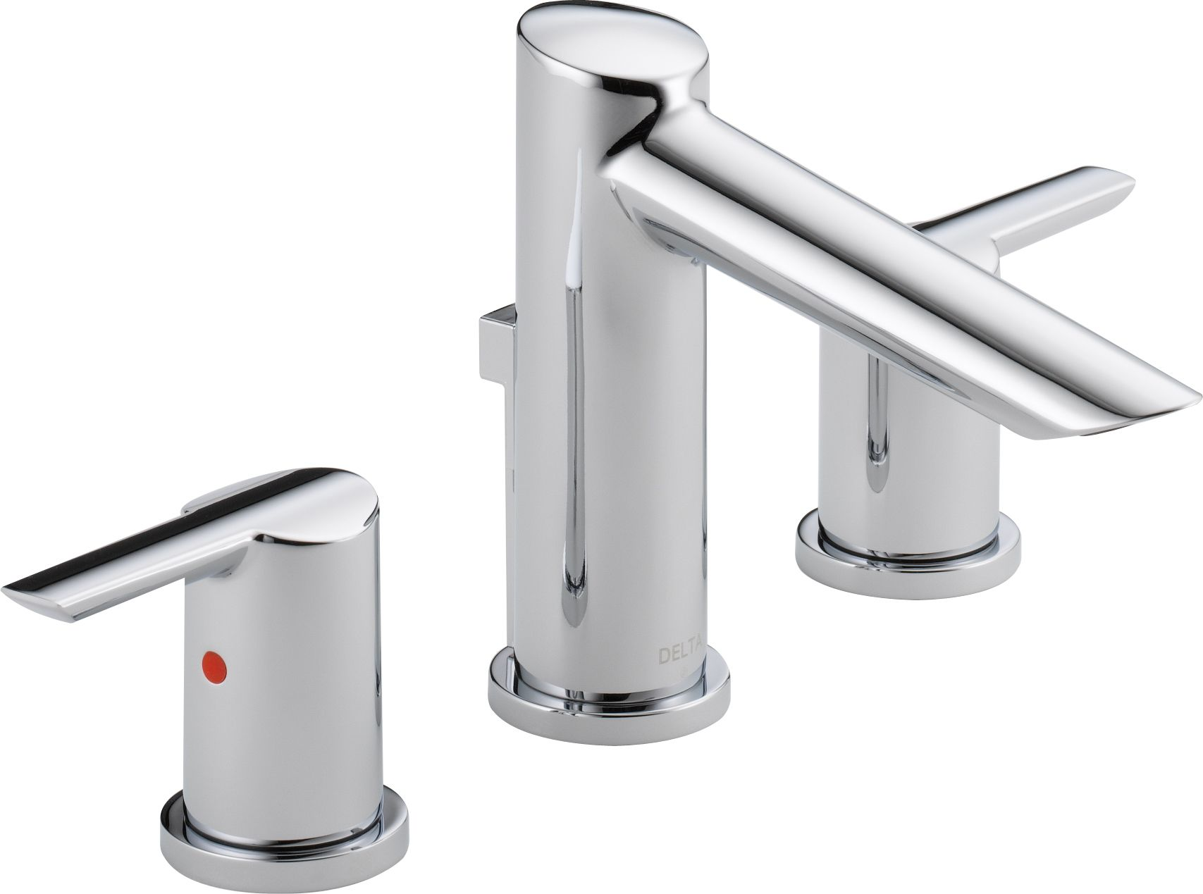 Delta 3561-MPU-DST Chrome Compel Widespread Bathroom Faucet with Pop ...