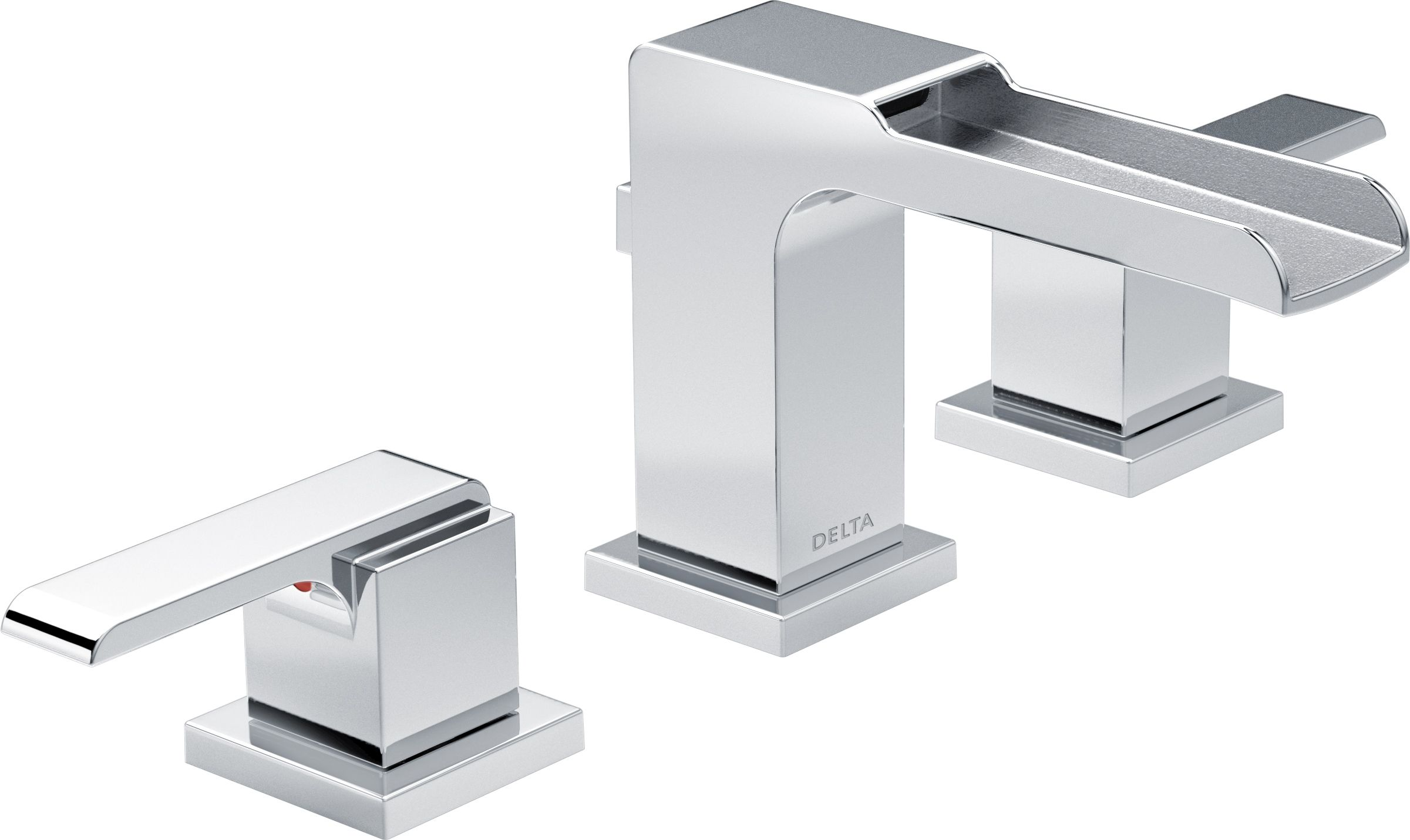 Delta 3568lf Mpu Chrome Ara 1 2 Gpm Widespread Waterfall Bathroom