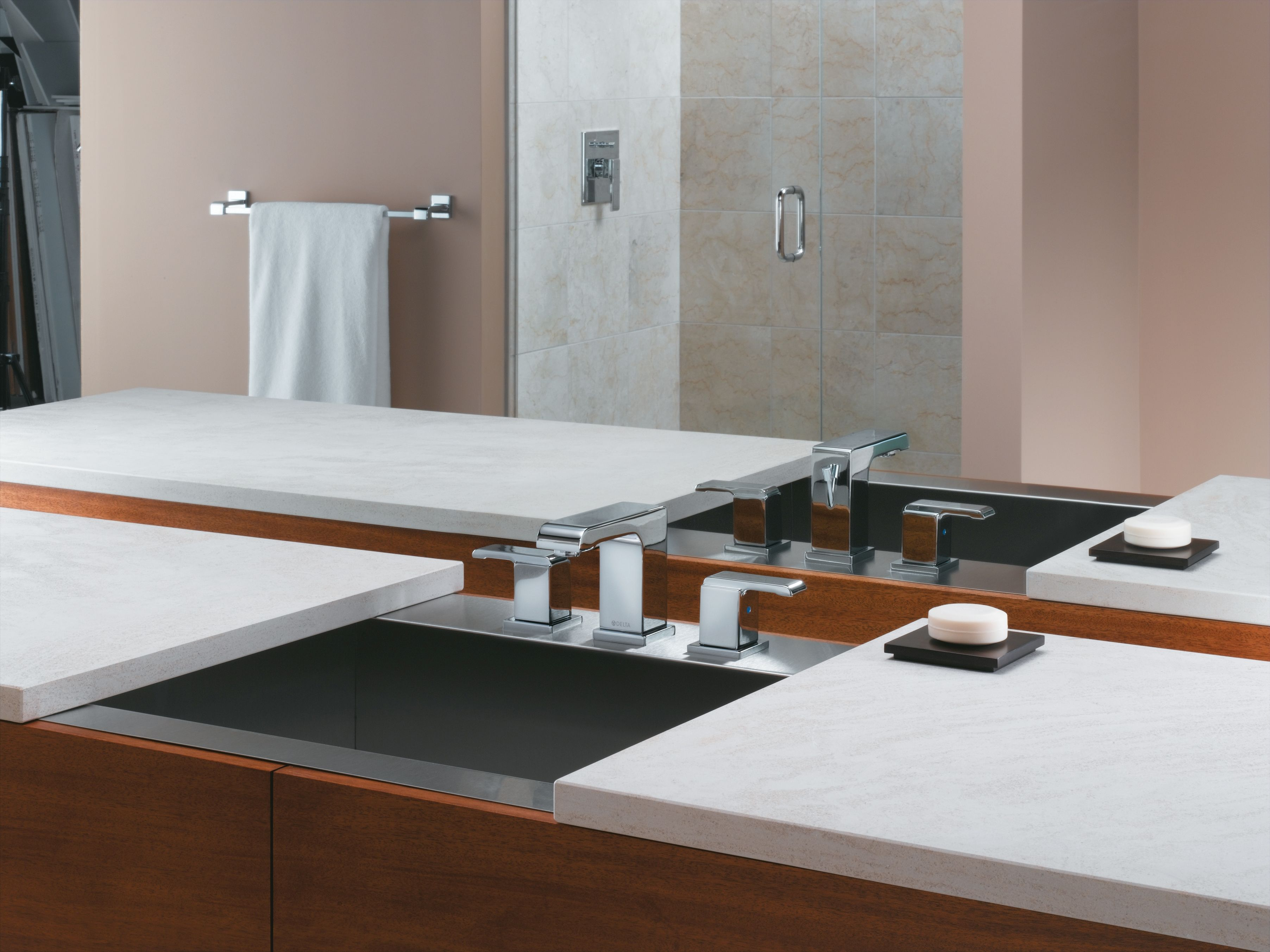 Pop Up Drain Embly Includes Lifetime Delta 3586lf Ssmpu Brilliance Stainless Arzo Widespread Bathroom