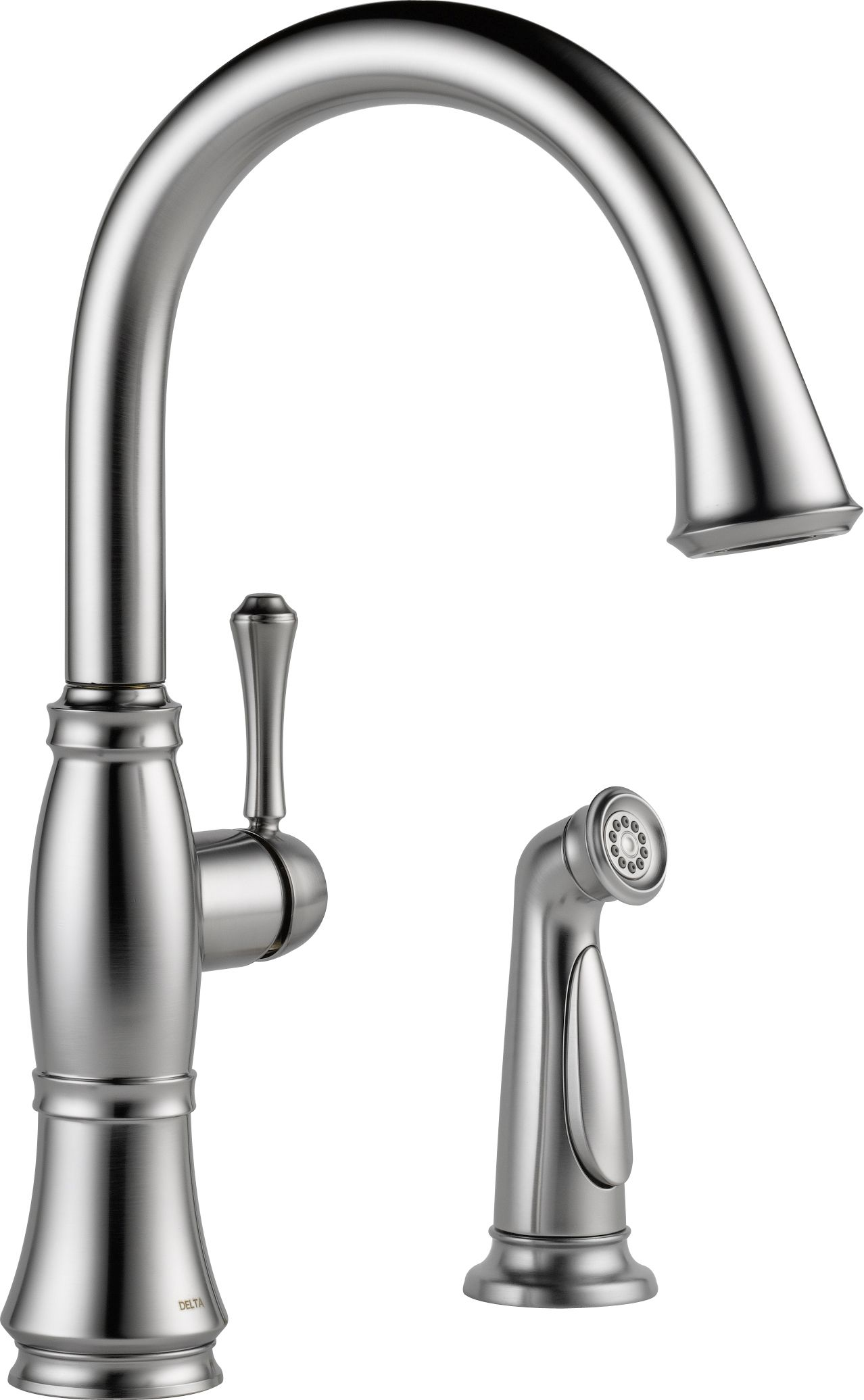Delta 4297 AR DST Arctic Stainless Cassidy Kitchen Faucet With Side Spray    Includes Lifetime Warranty   Faucet.com