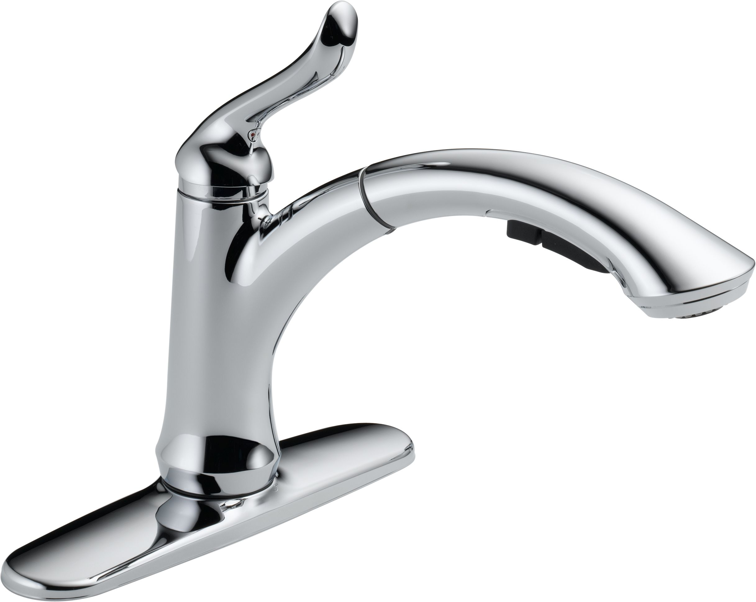 delta 4353 ar dst arctic stainless linden pull out kitchen faucet delta 4353 ar dst arctic stainless linden pull out kitchen faucet with temporary flow increase optional base plate includes lifetime warranty faucet