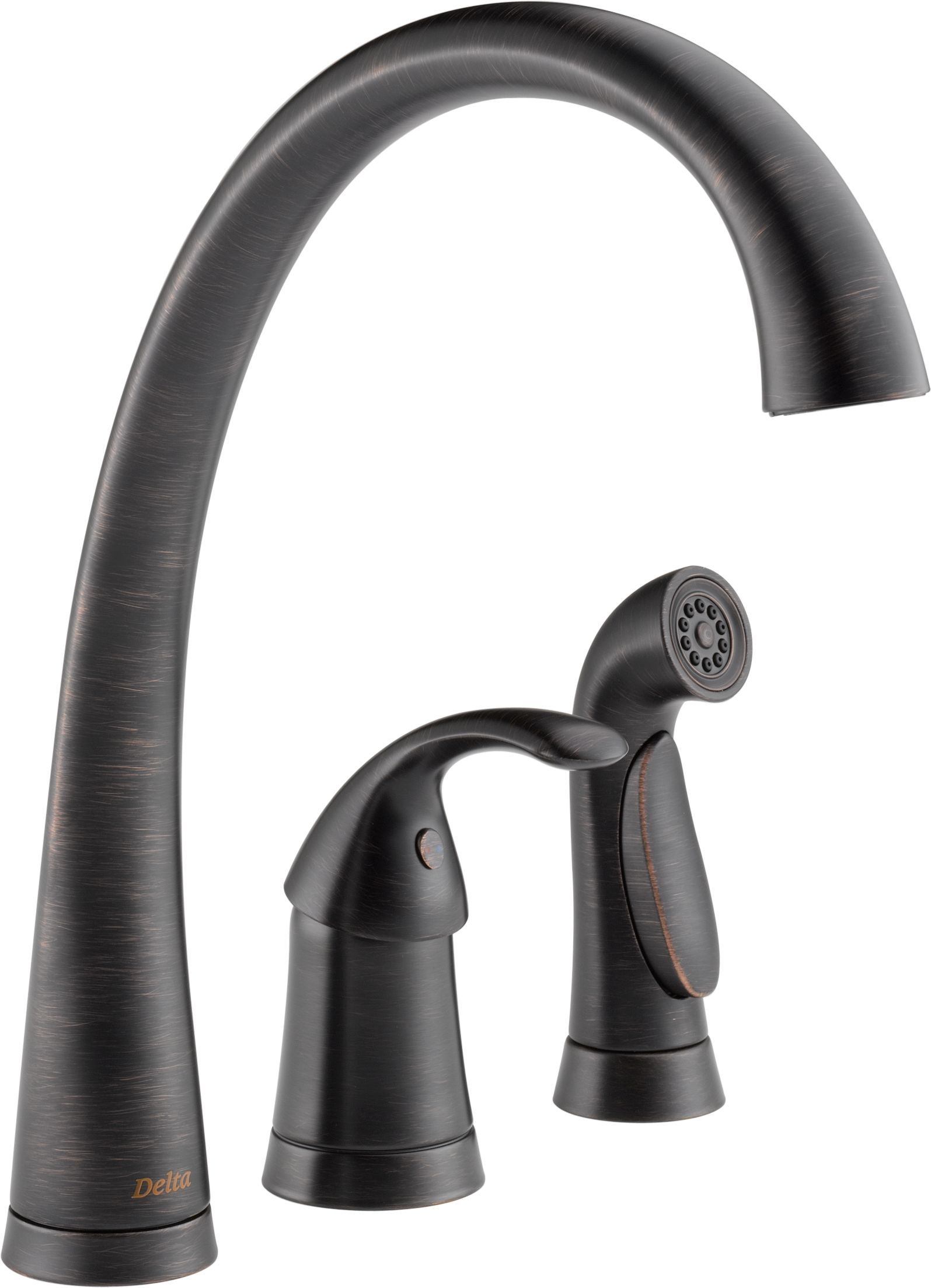 Delta 4380 AR DST Arctic Stainless Pilar Kitchen Faucet With Side Spray    Includes Lifetime Warranty   Faucet.com